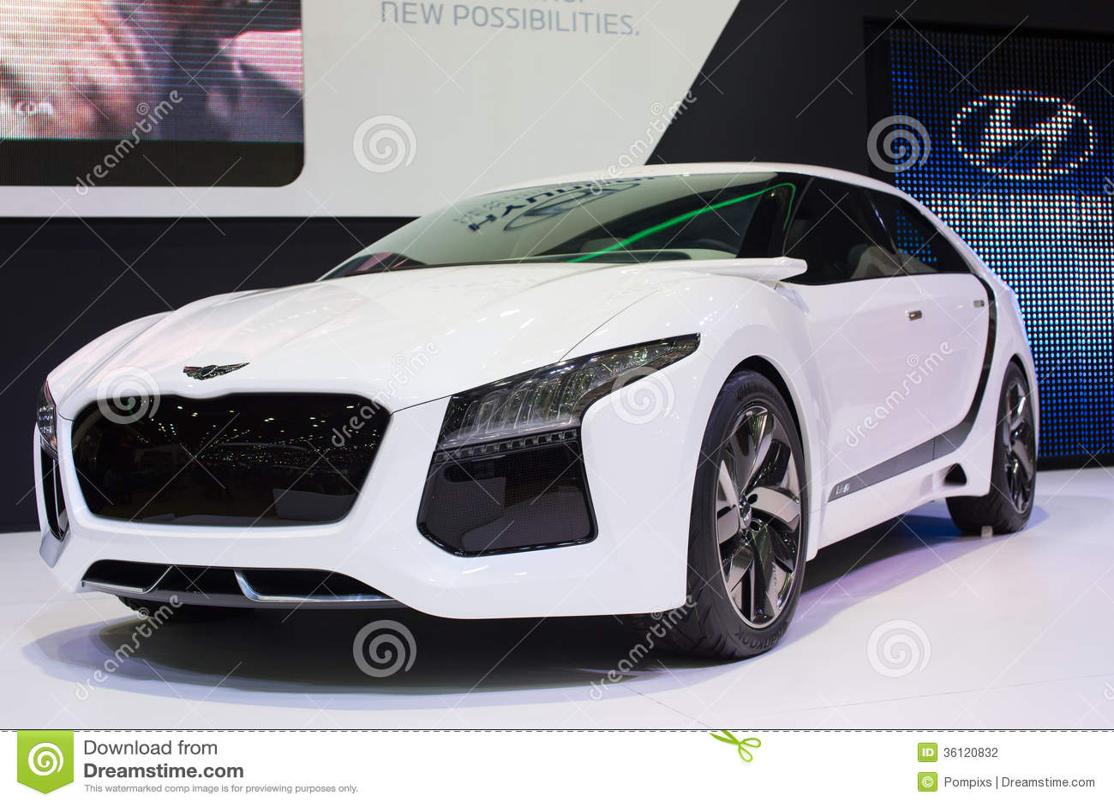 Hyundai-concept nieuwe het denken nieuwe mogelijkheden bij de Internationale Motor Expo van 30ste Thailand op 3 December, 2013 in