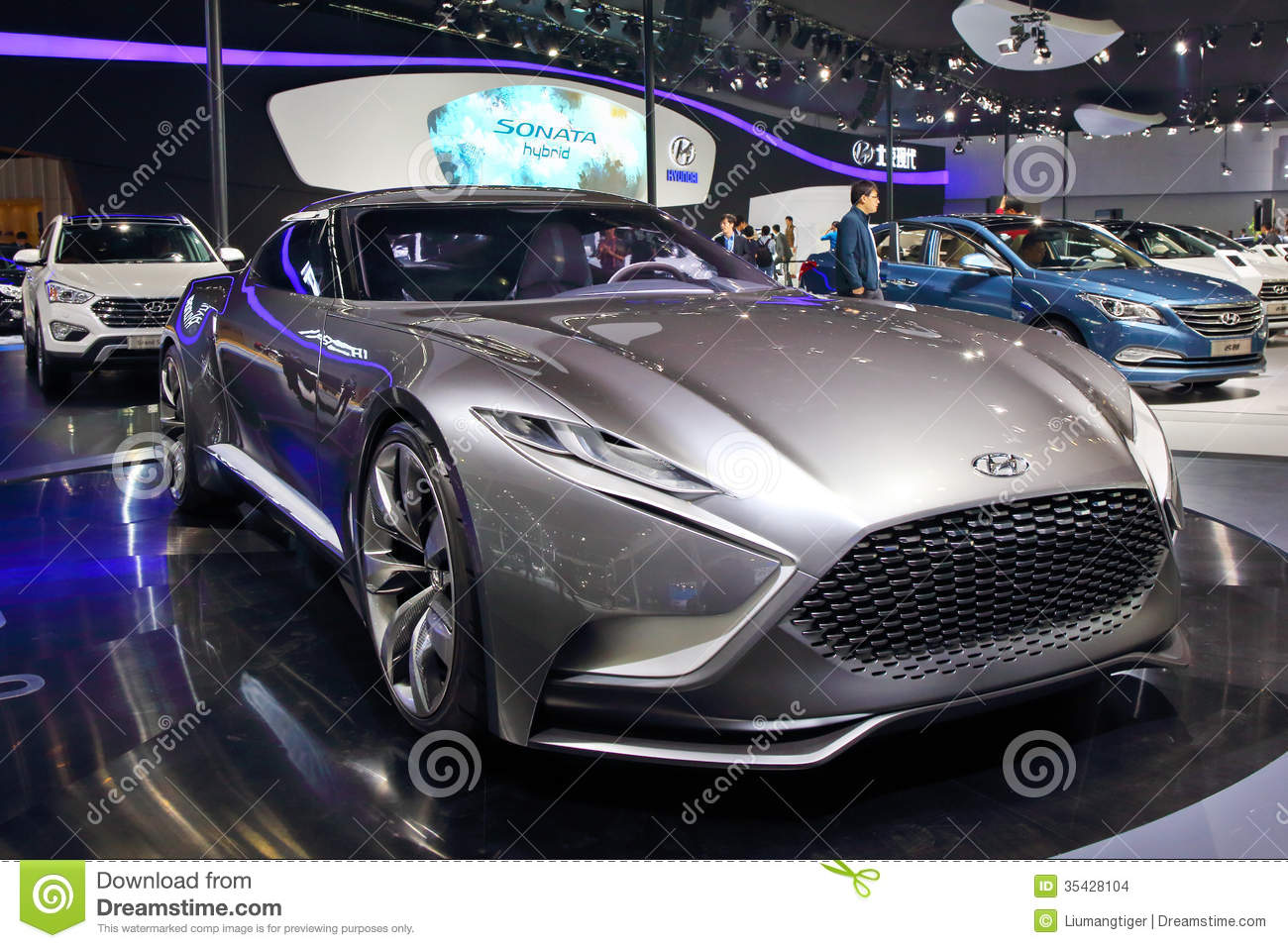 Hyundai HND Editorial Stock Image Image Of Concept - Hyundai car show