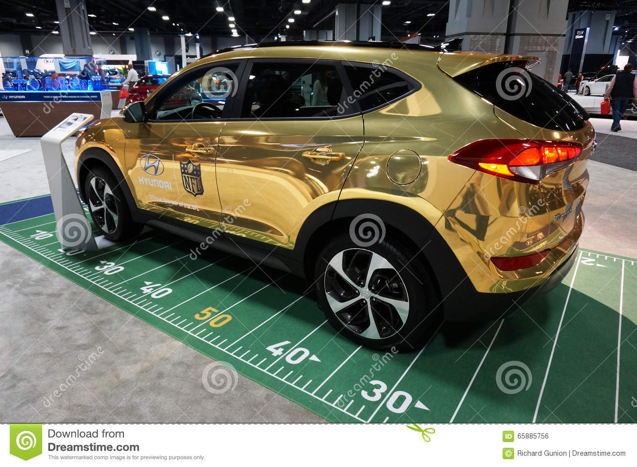 Hyundai Nfl Football Car Editorial Photo Image Of Automobile