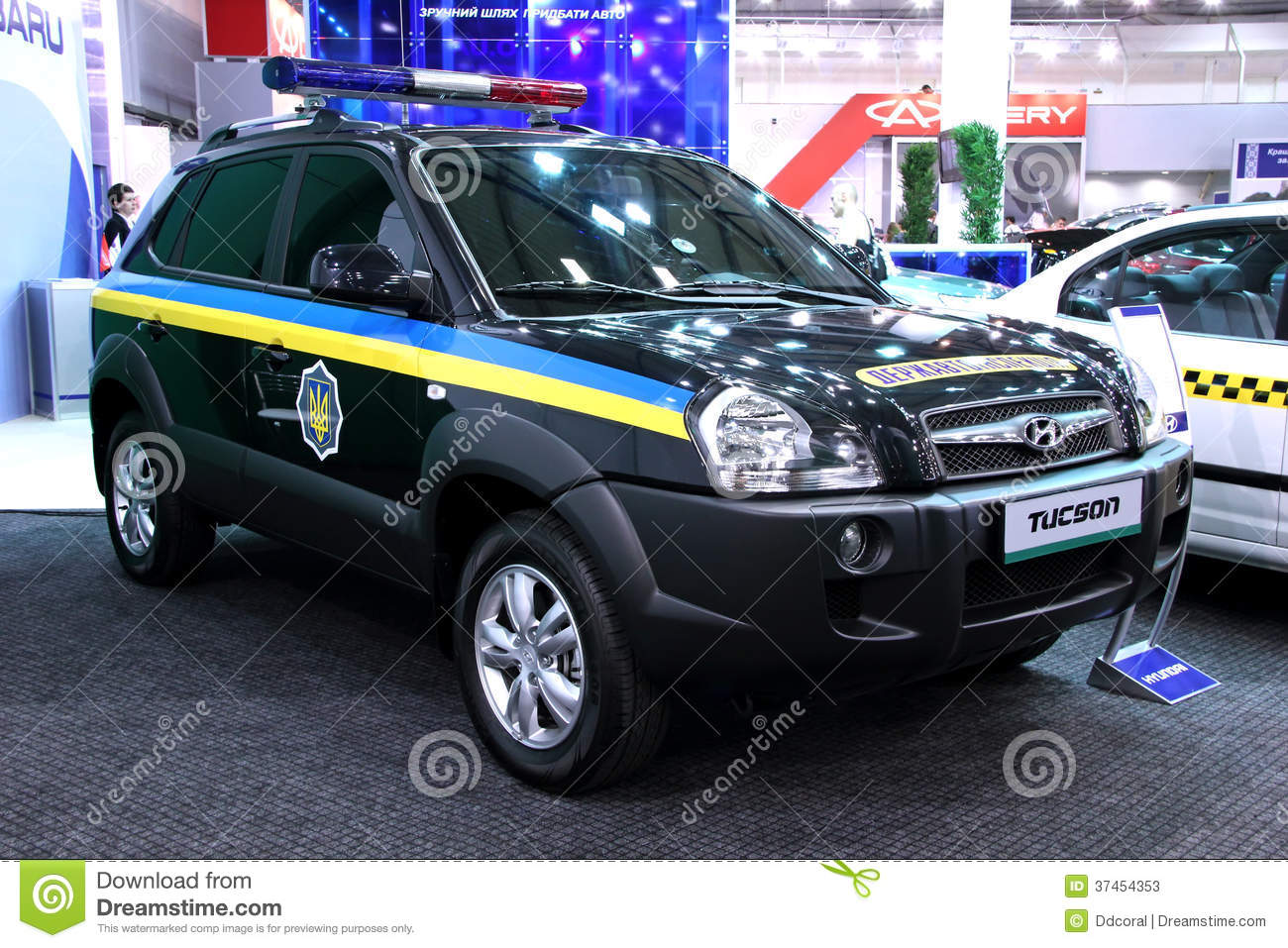 Hyundai tucson police crossover jeep editorial stock photo for Motor vehicle department tucson