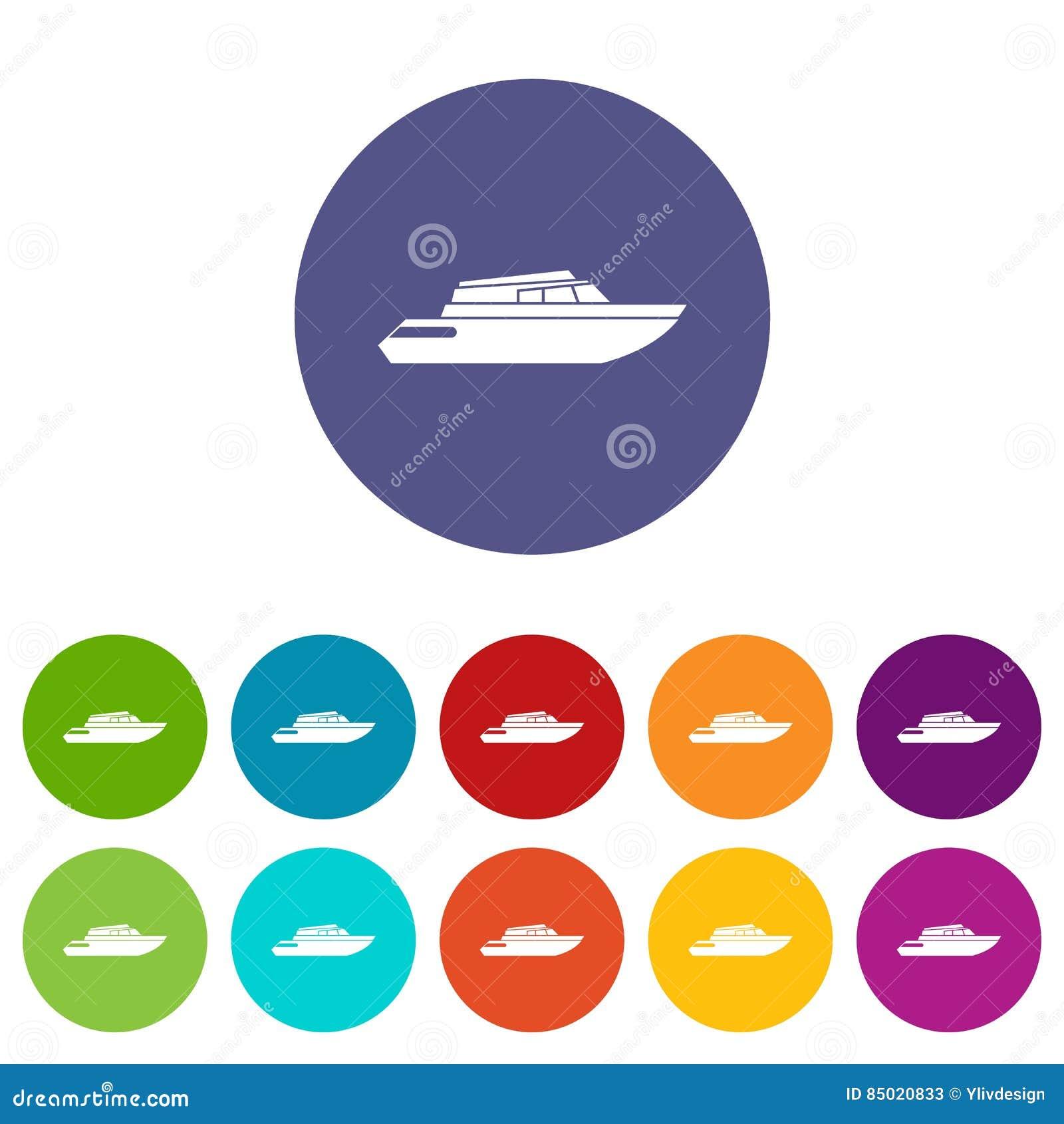 Hyvla fastställda symboler för powerboat