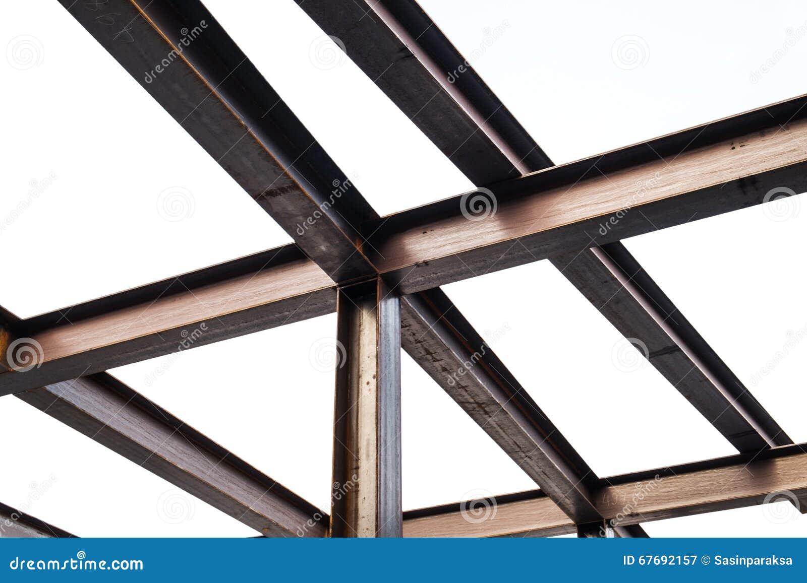 I Beam Steel Construction Isolated On White Background