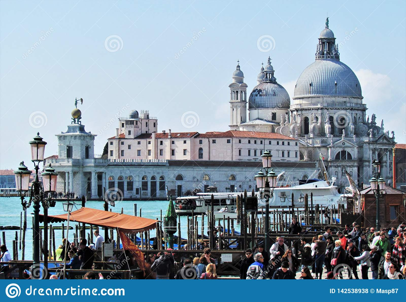 I bei Di Santa Maria della Salute della basilica della La a Venezia, Italia