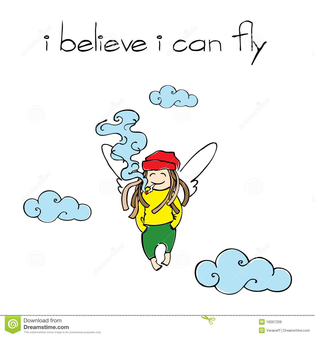 I believe i can fly тату