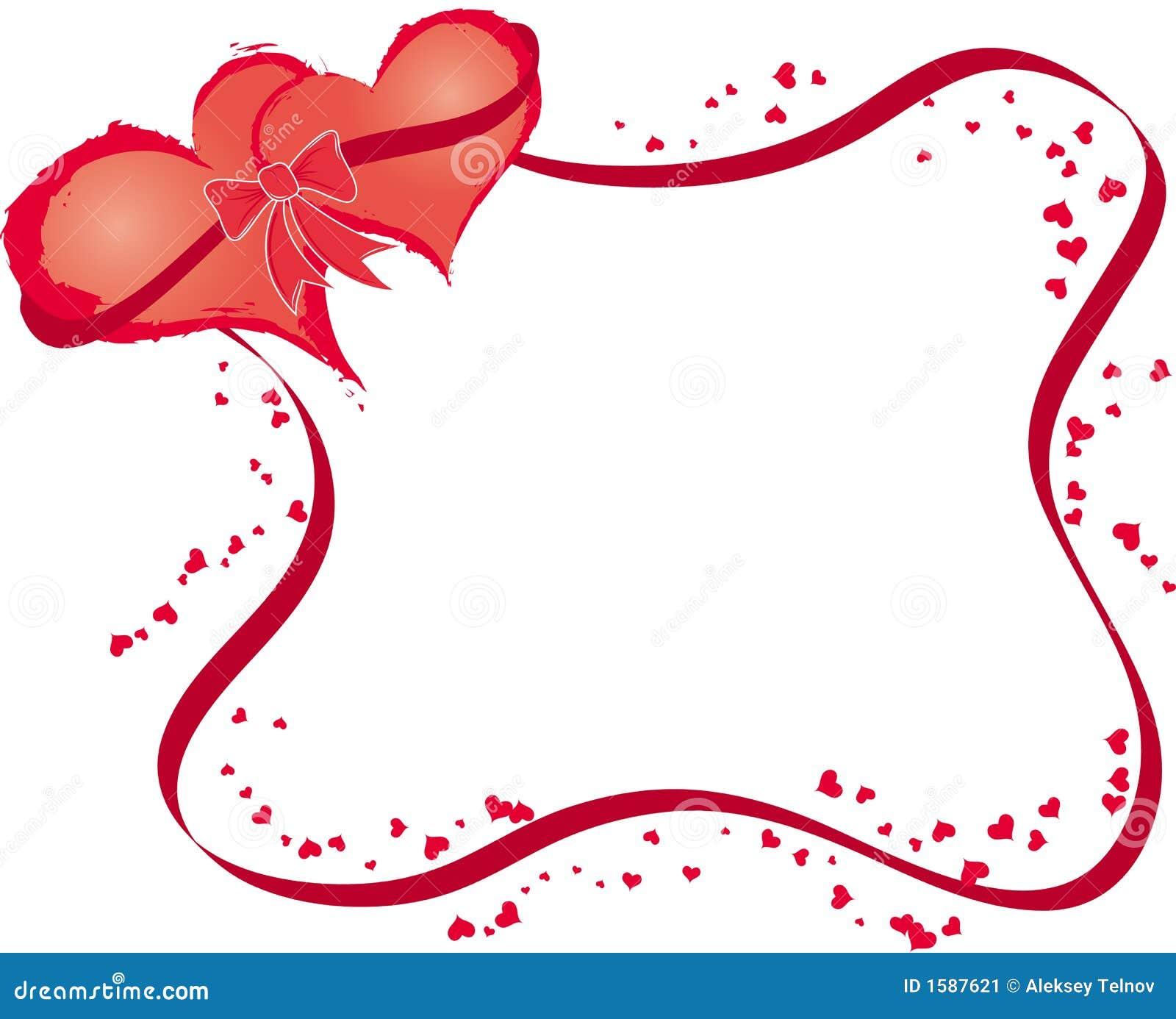 I biglietti di s valentino incorniciano con i cuori - Animale san valentino clipart ...