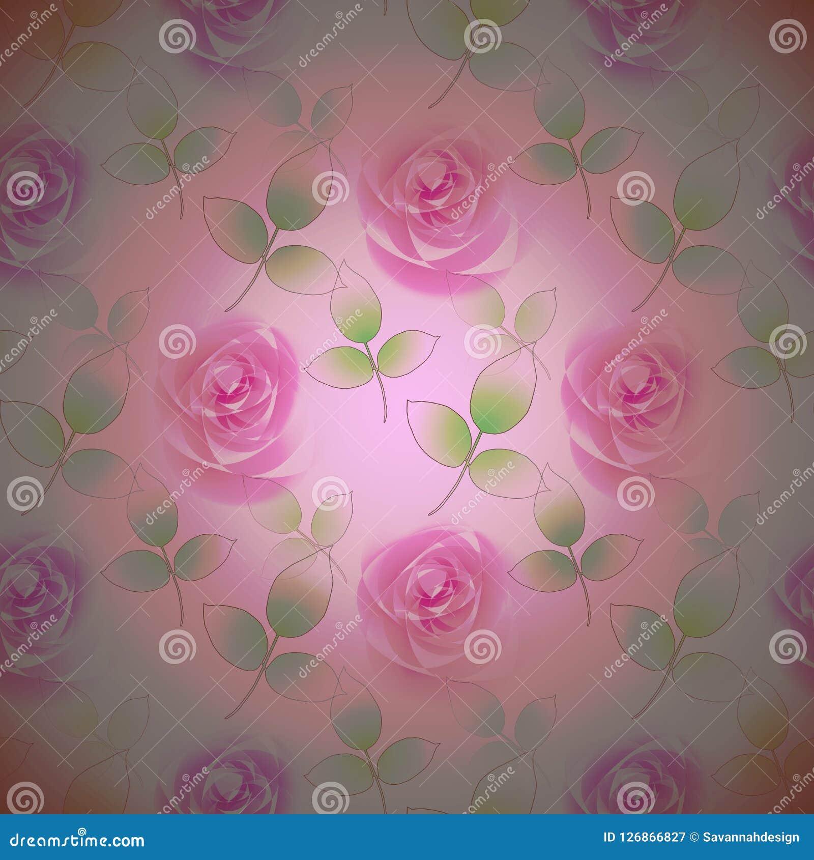 Delicato Colore Viola Pallido i boccioli di rosa astratti senza cuciture dentellano la