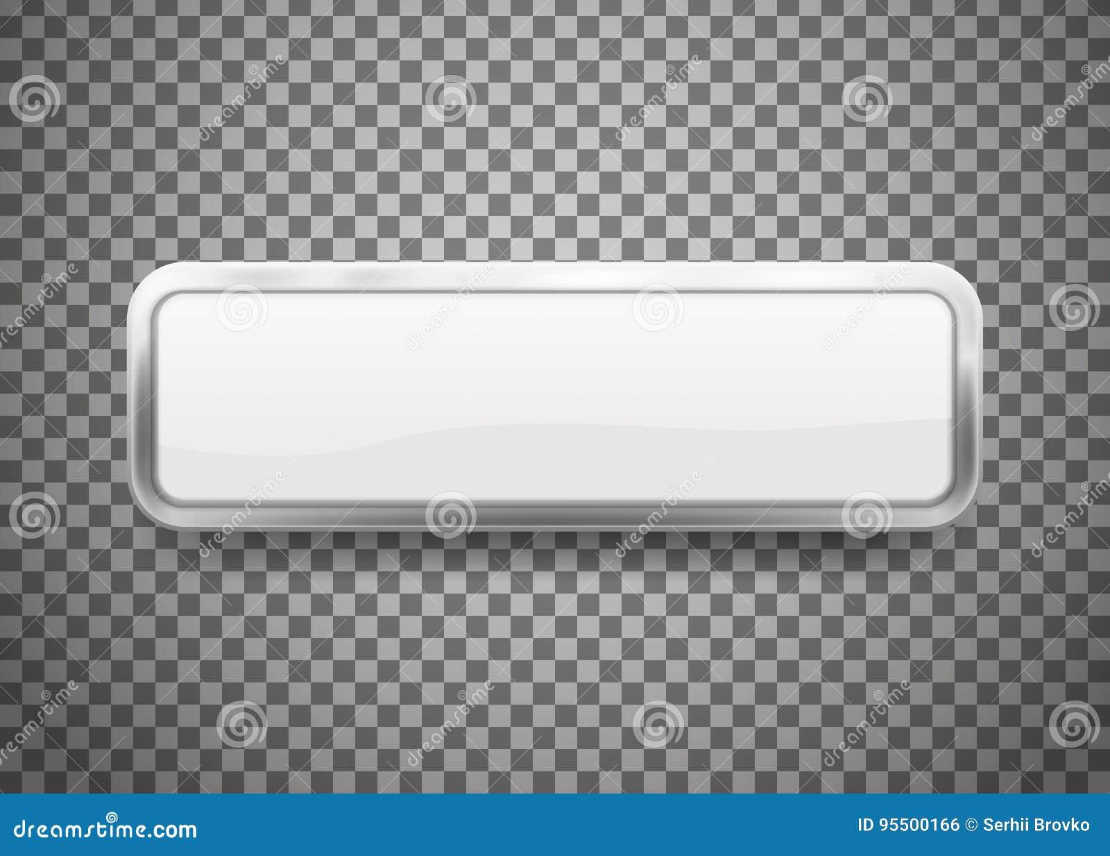 I bottoni con cromo incorniciano isolato su fondo trasparente Illustrazione di vettore