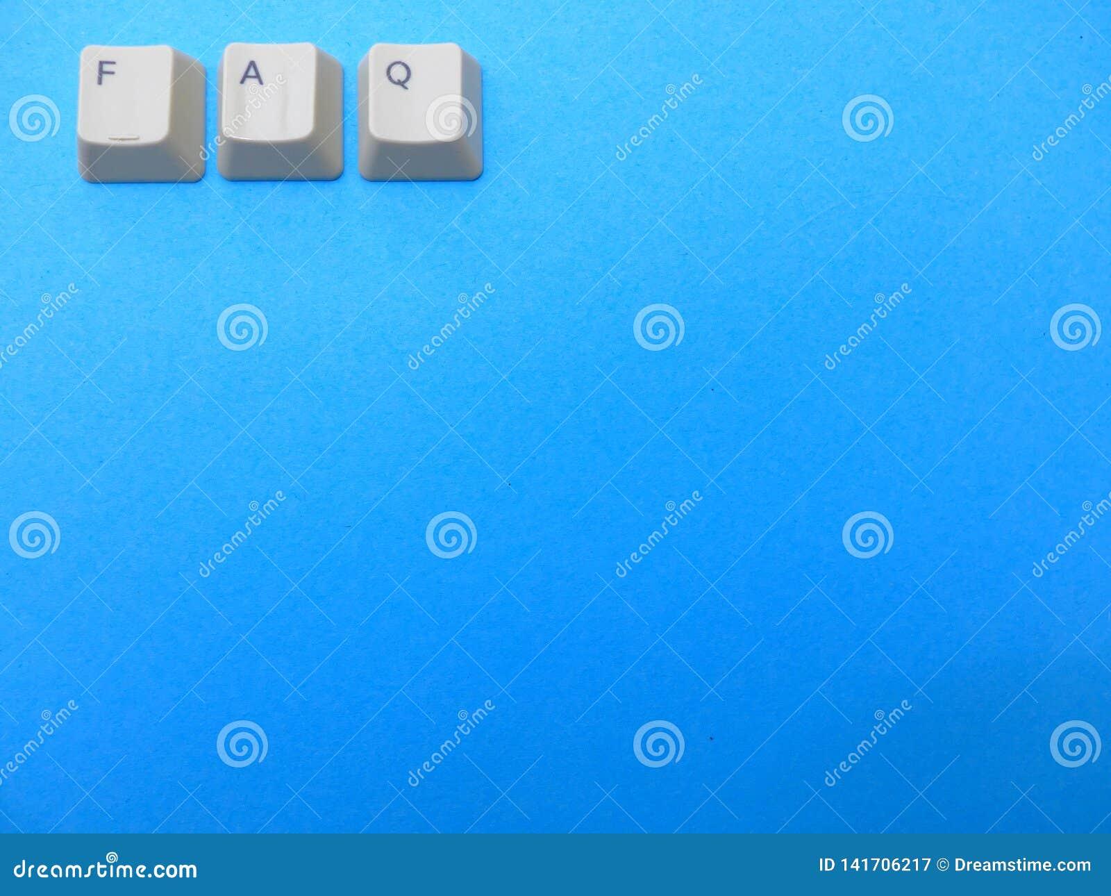 I bottoni del computer formano un FAQ frequentemente hanno chiesto l abbreviazione di domande Computer e gergo di Internet, fondo