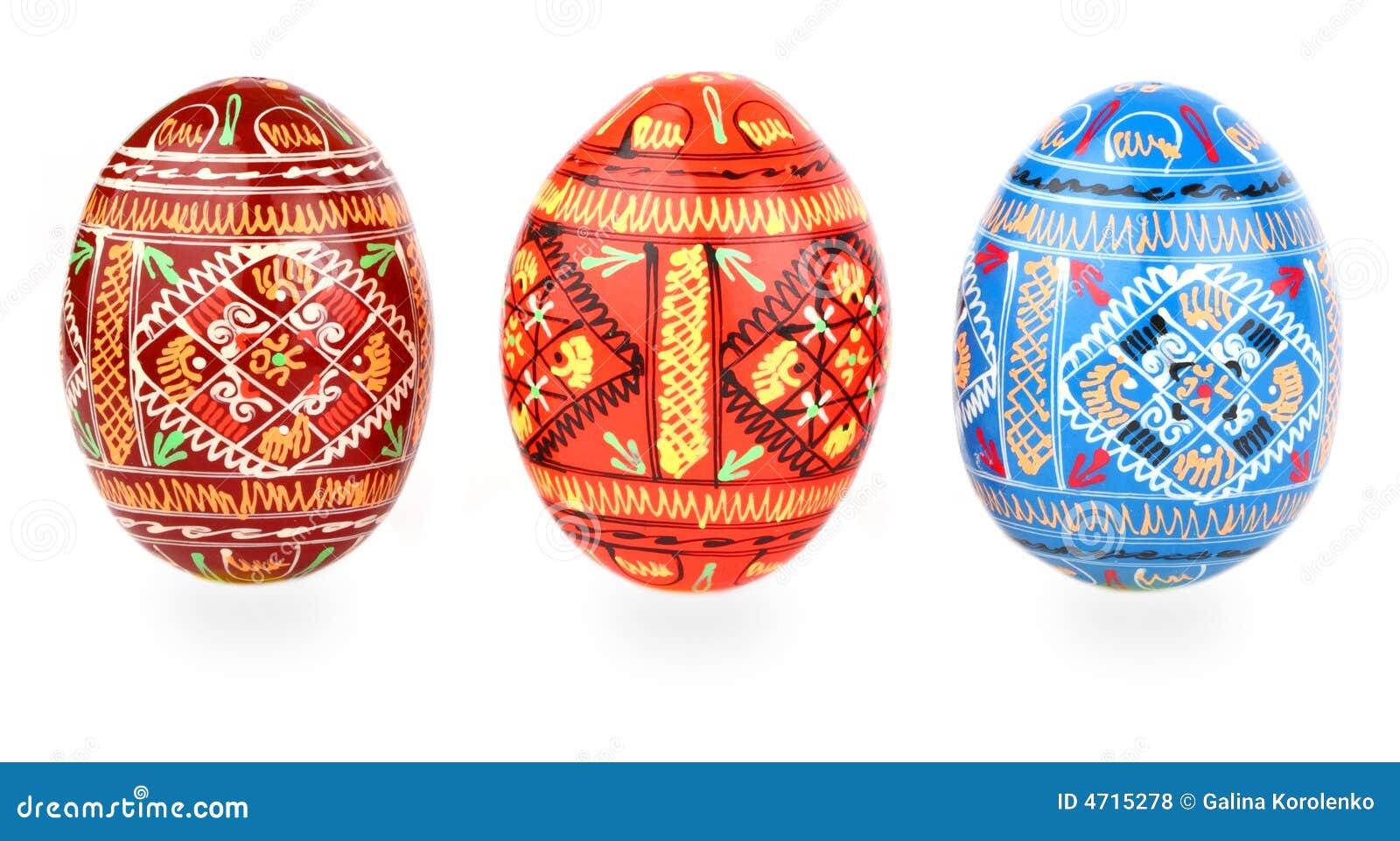 I bredd easter ägg över tradition w för ryss tre