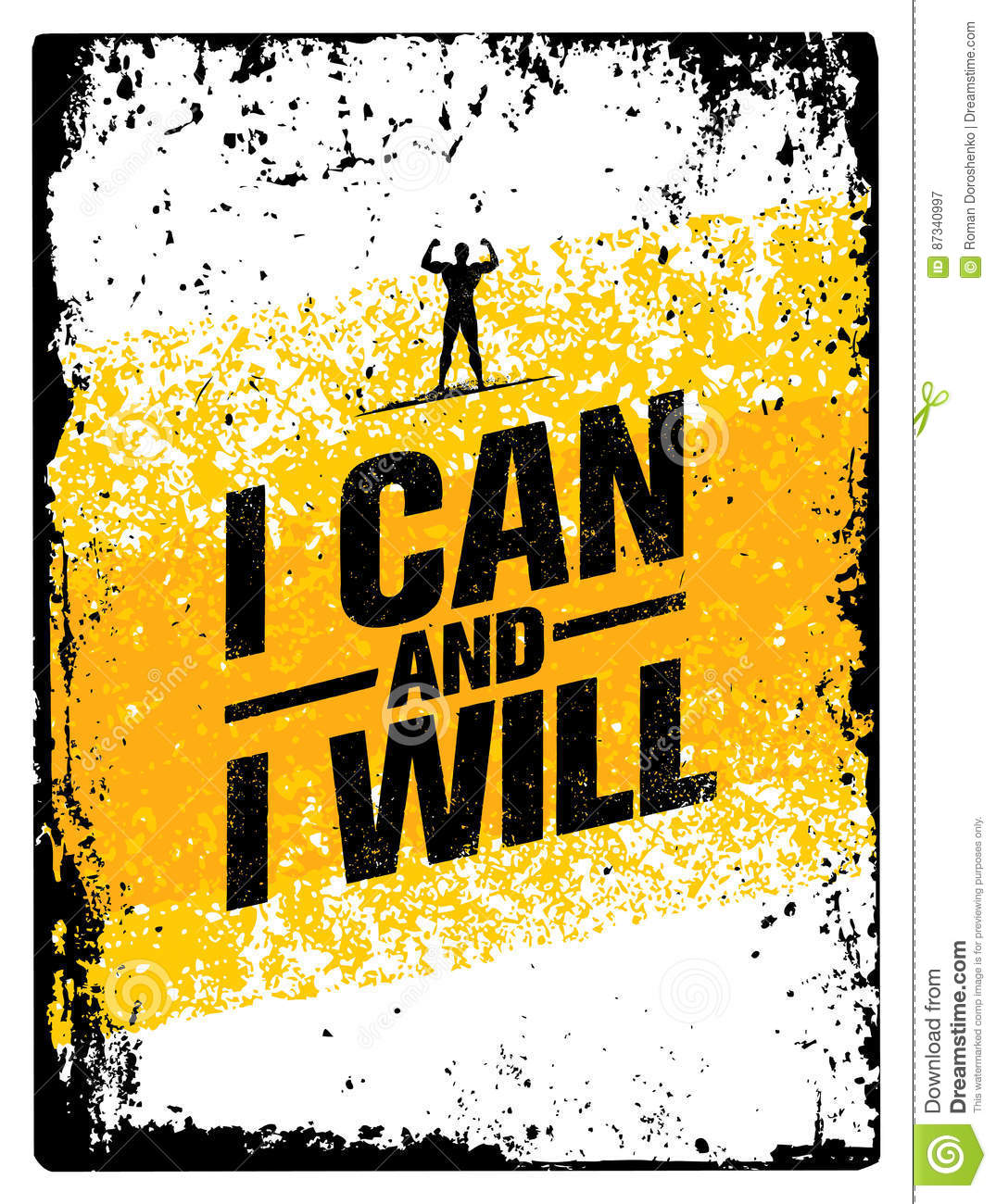 I can and will sport gym typography workout motivation