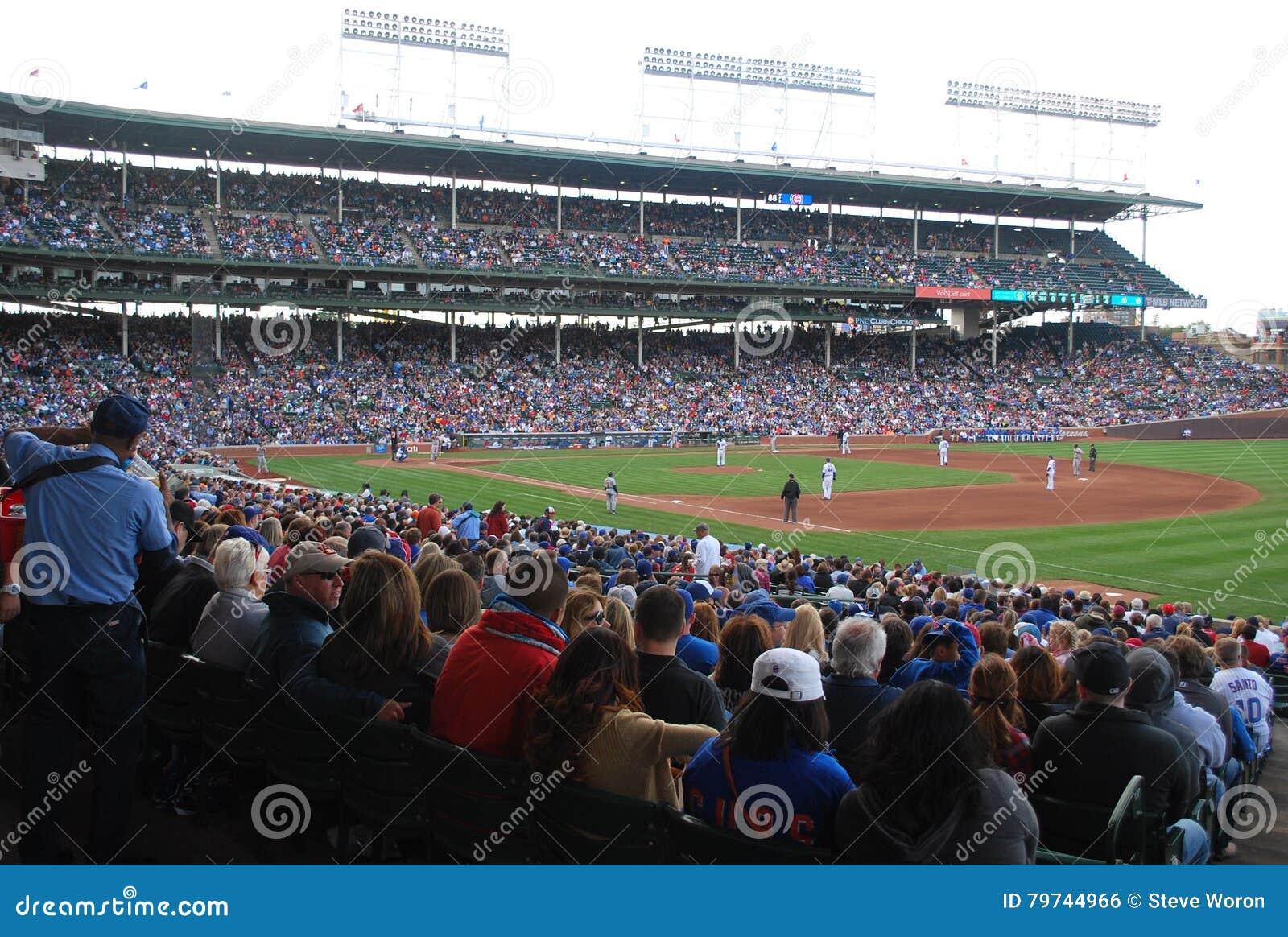 I Chicago Cubs Wrigley sistemano il diamante di baseball