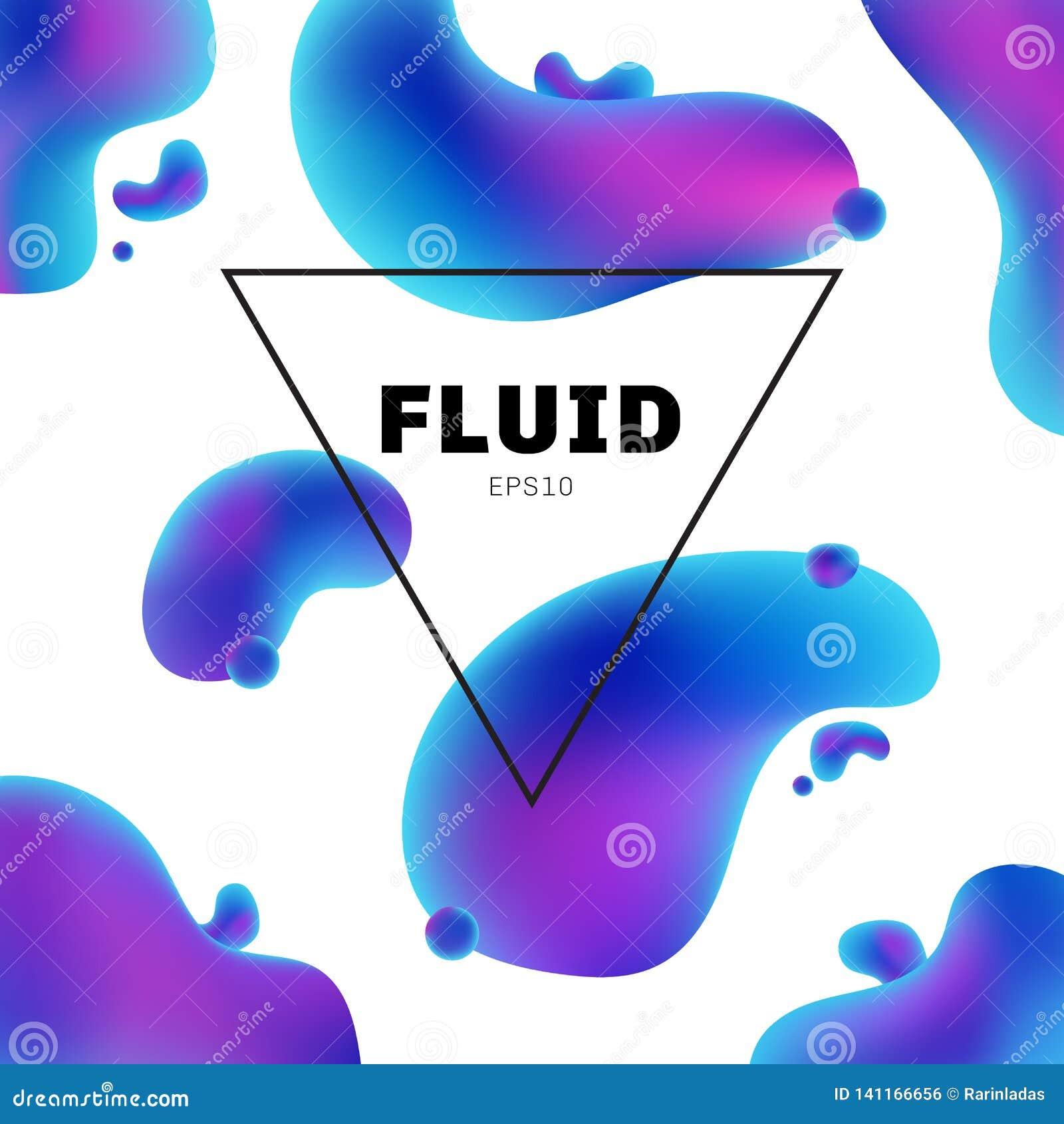 I colori olografici fluidi dell estratto modellano con il fondo moderno della cornice di testo con progettazione d avanguardia Po