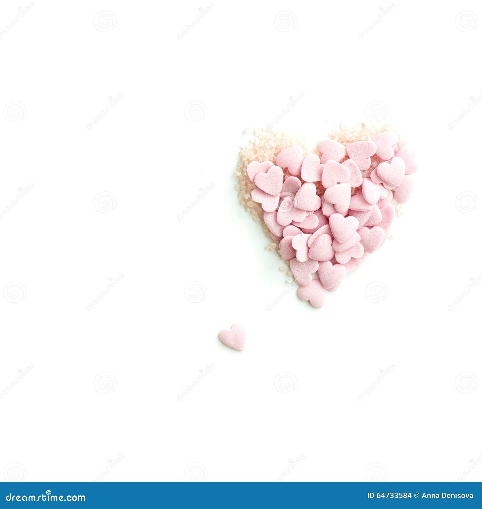 I coriandoli spruzzano sotto forma di cuore