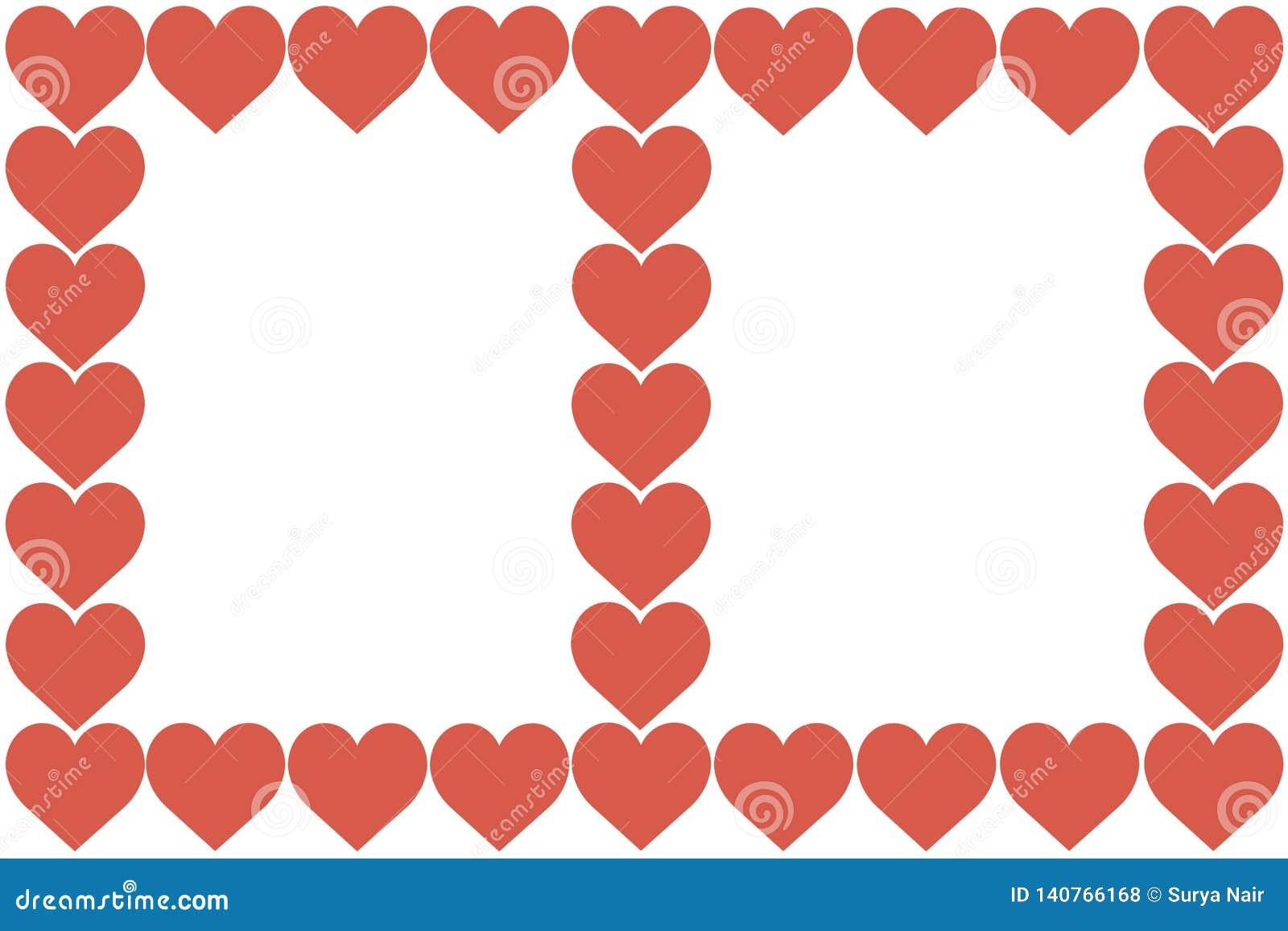 I cuori rossi progettano su fondo bianco Amore, cuore, San Valentino Può essere usato per gli articoli, la stampa, scopo dell ill