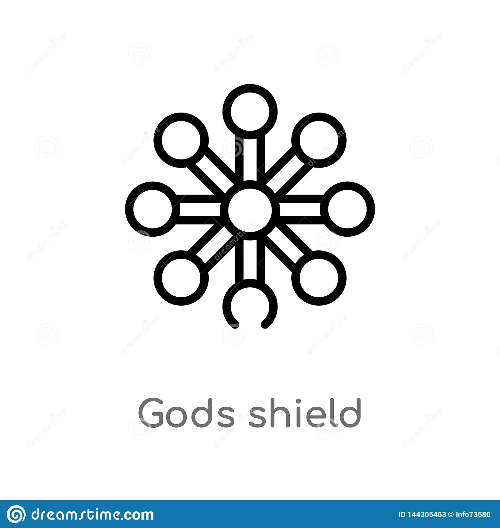 I dei del profilo proteggono l icona di vettore linea semplice nera isolata illustrazione dell elemento dal concetto dello zodiac