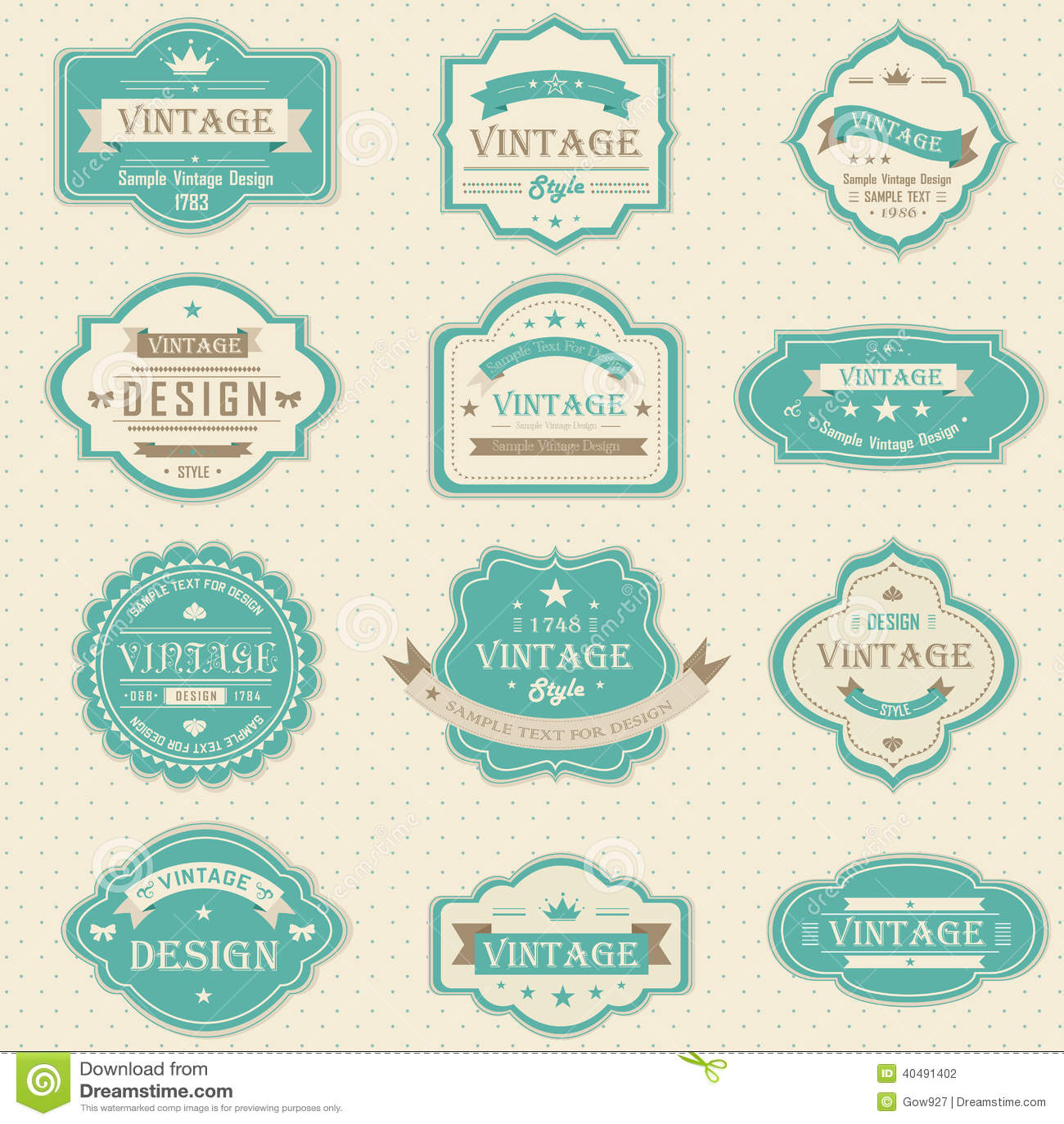 I distintivi d annata e retro progettano con il testo del campione (