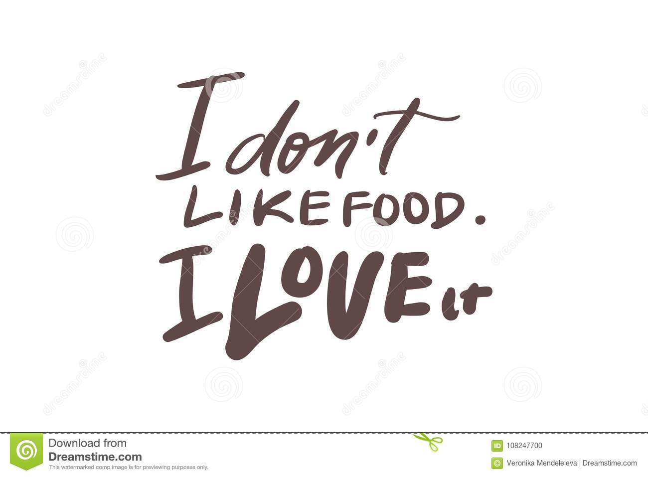 Food Quotes Hand Lettering For Your Design Stock Vector