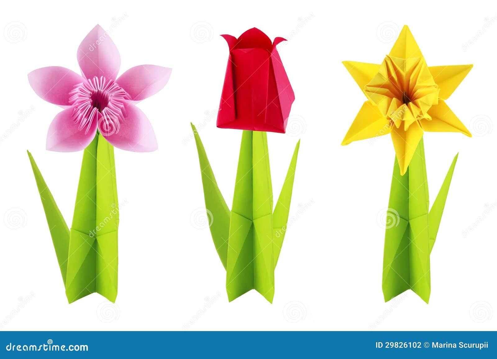 0rigami Fiori.Fiori Di Origami Messi Fotografia Stock Immagine Di Fiore 29826102