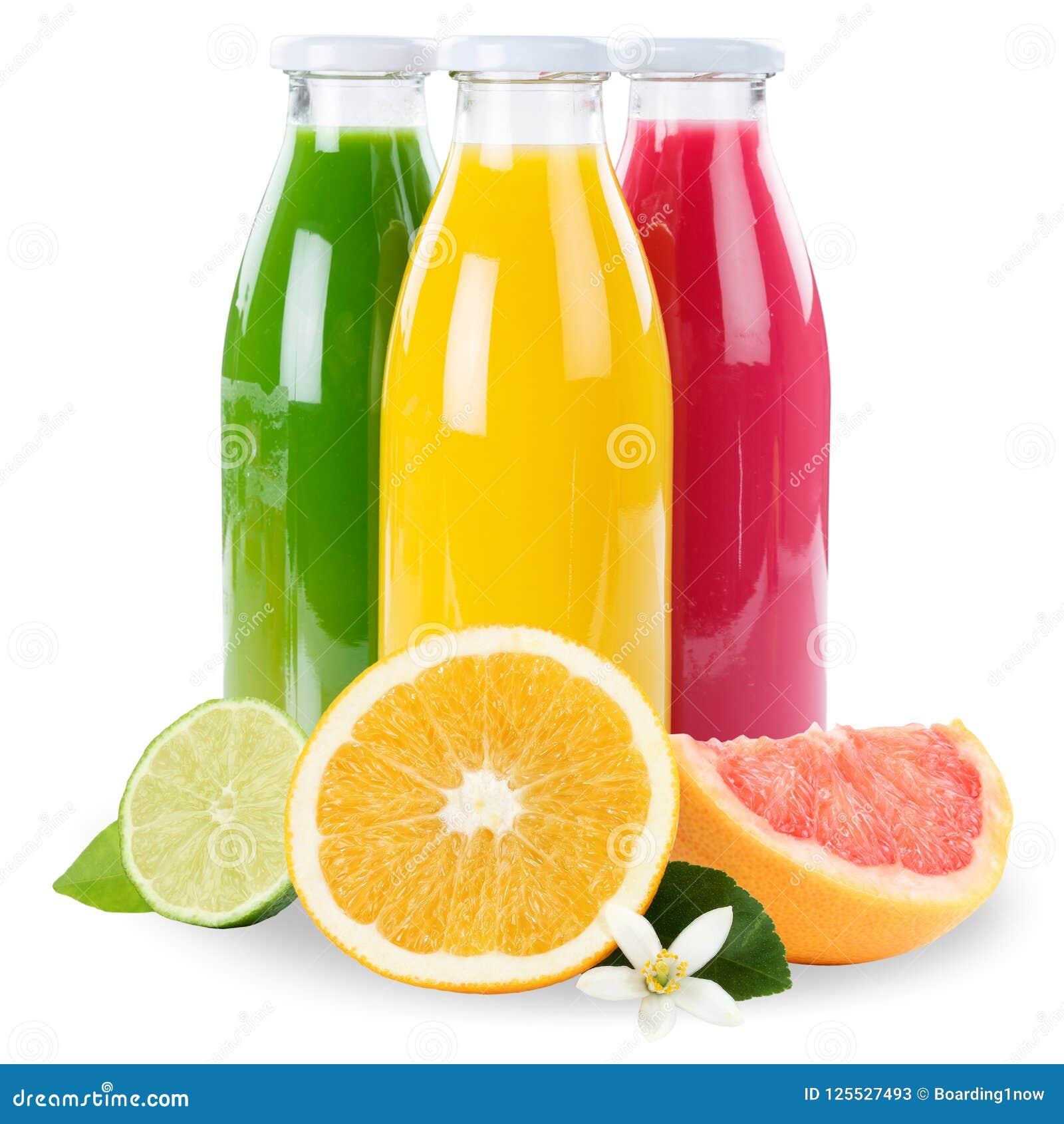 I frullati arancio di frutti della frutta del frullato del succo nel quadrato della bottiglia è