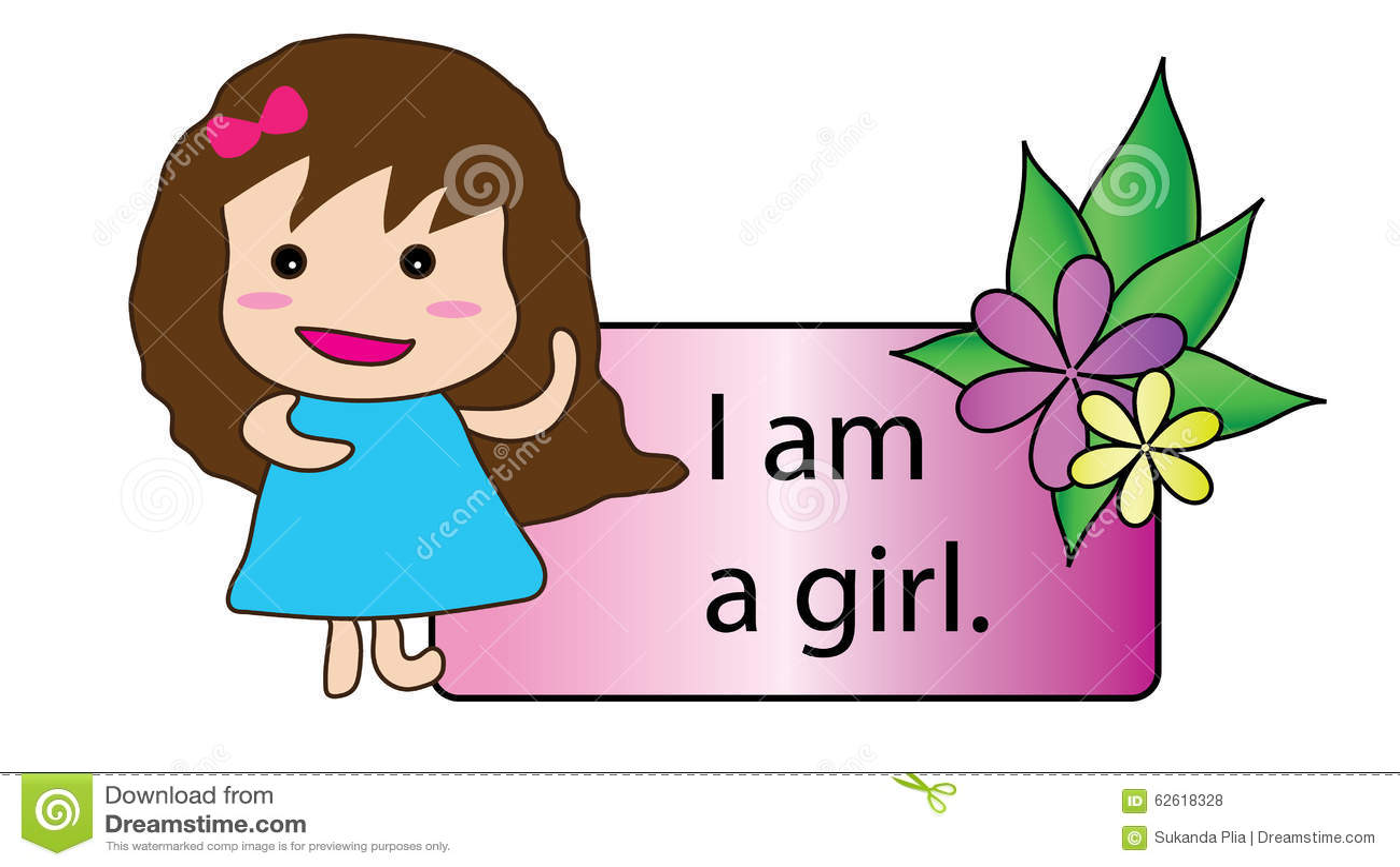 I Am A Girl Stock Illustration