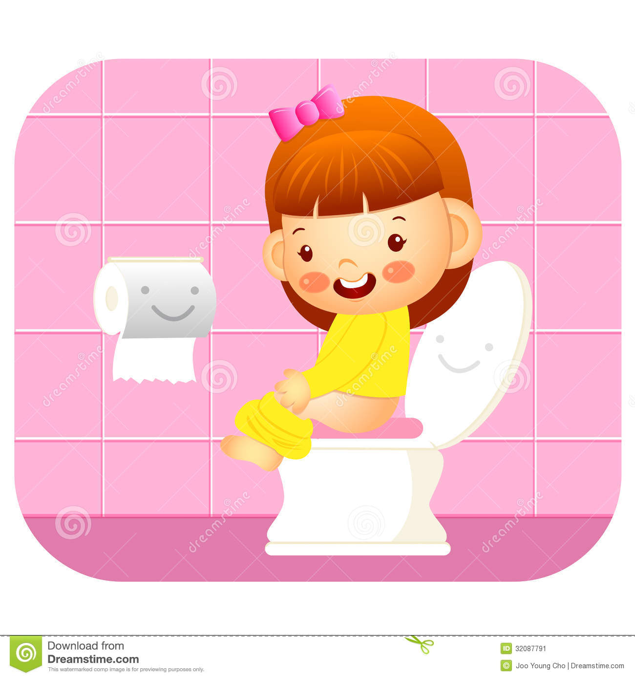 Stock Image I Go To The Bathroom Education And Life