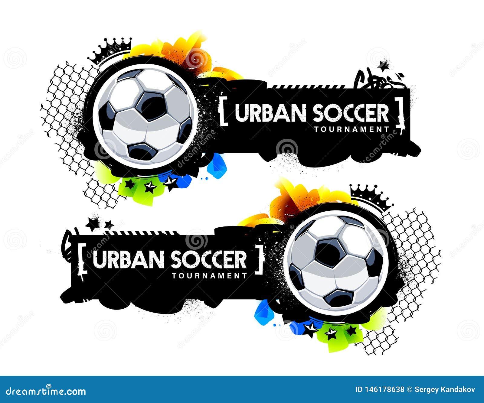 I graffiti disegnano l insegna urbana di calcio