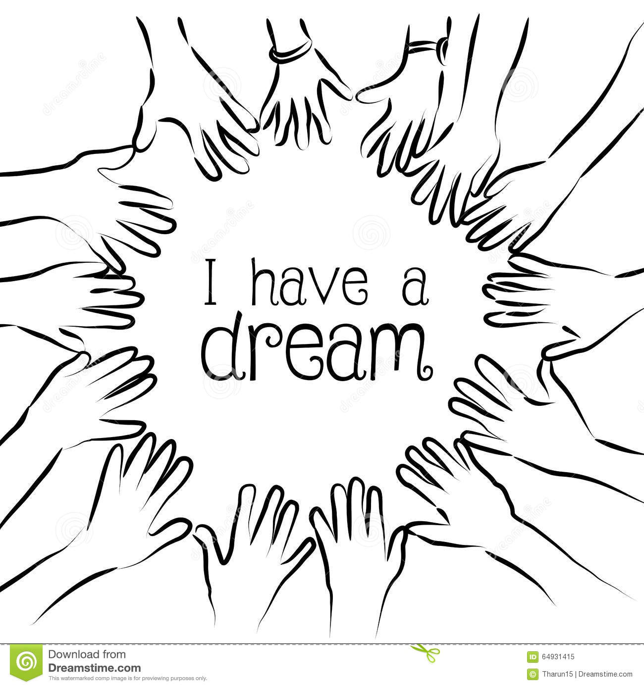 Download I Have A Dream Stock Illustration Of Martin