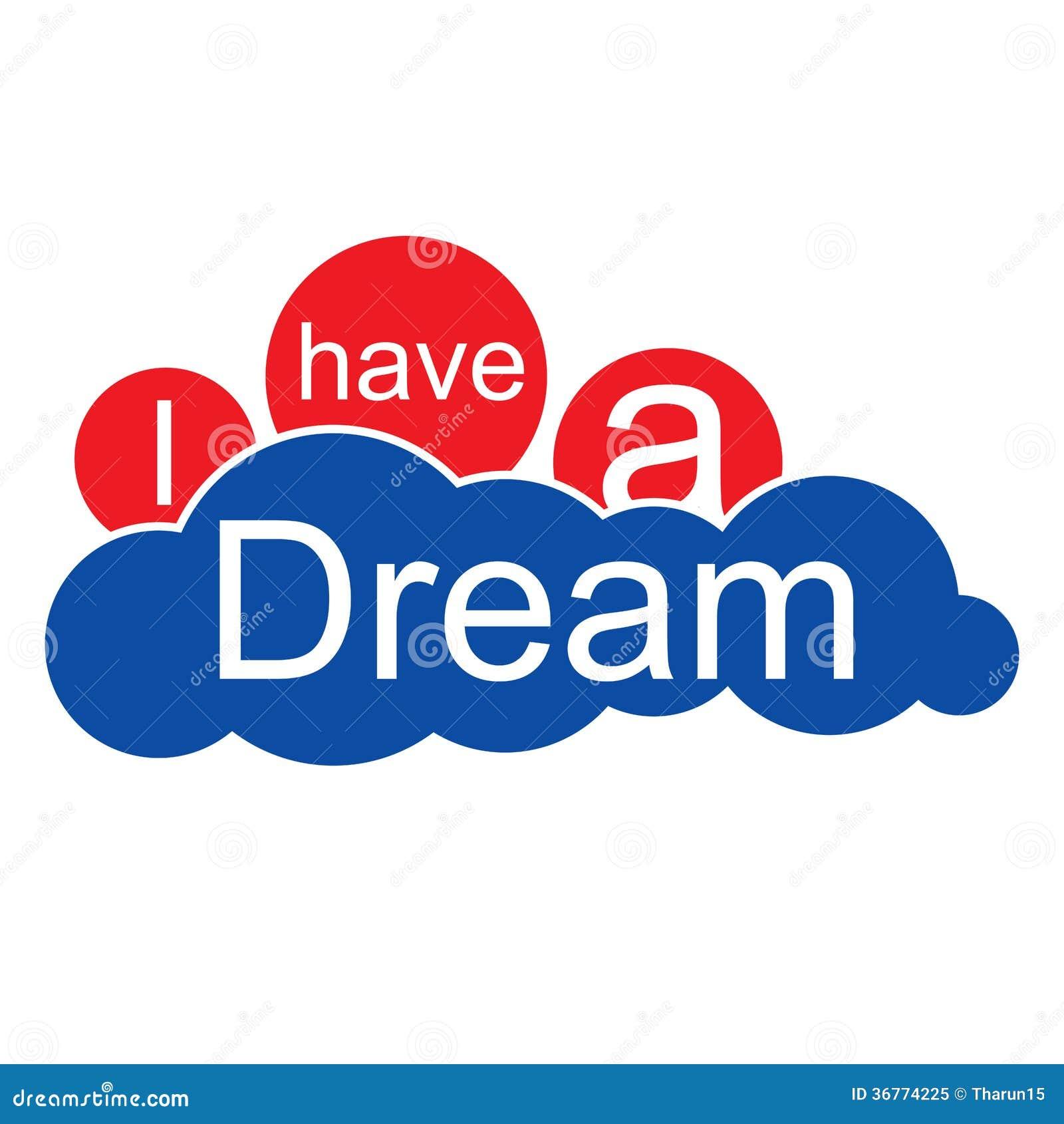 I Have a Dream cloud stock illustration. Illustration of ...