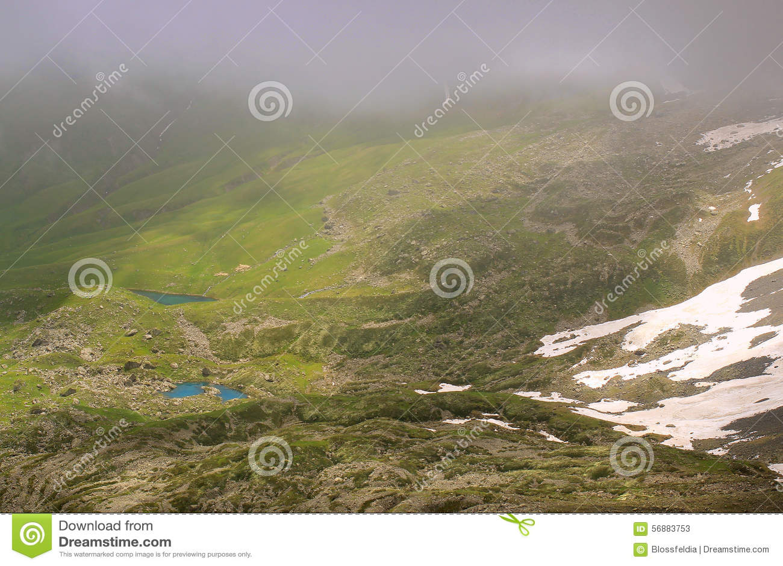I laghi verdi e blu Abudelauri (Georgia)