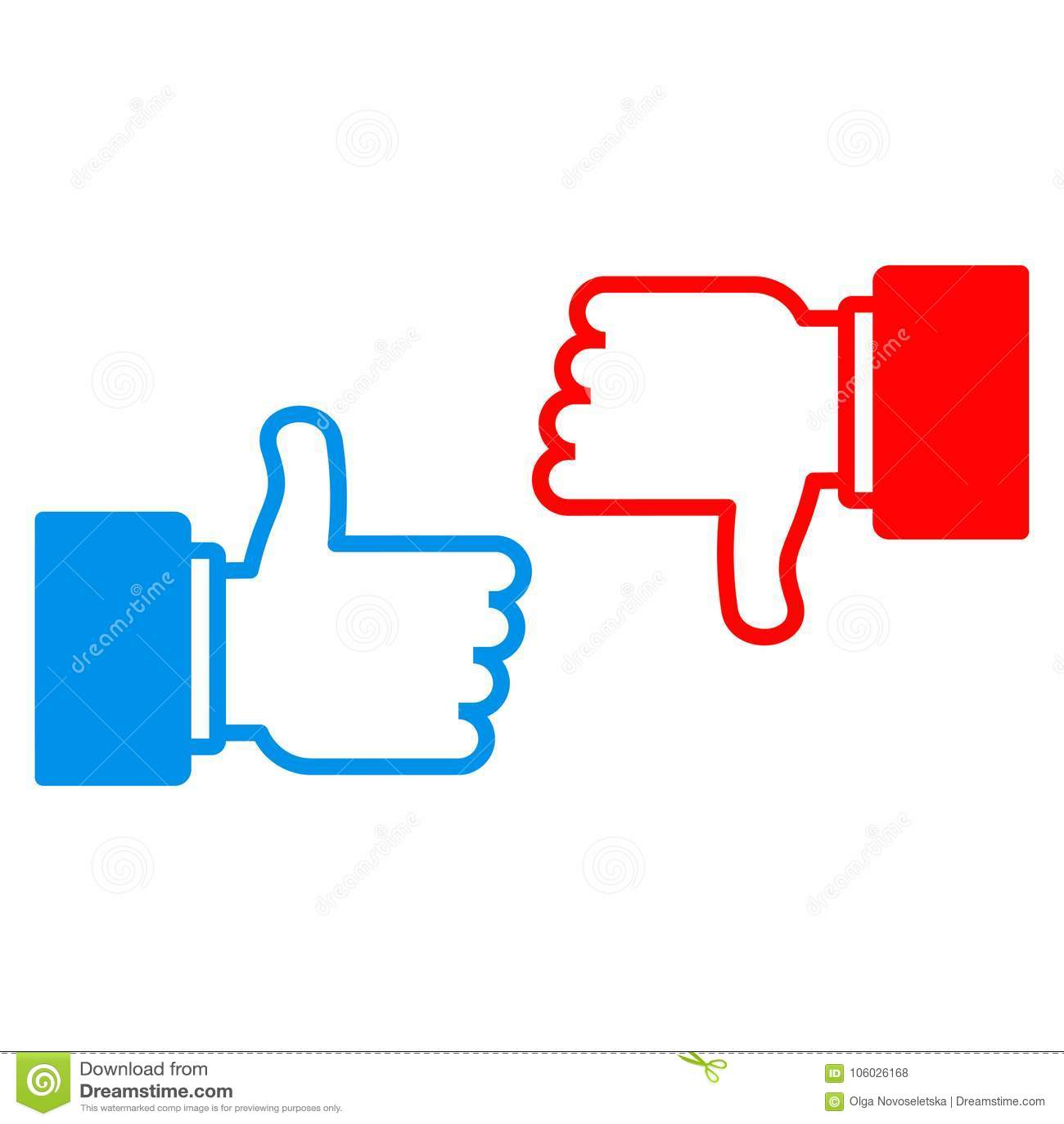 Like Dislike Sign Stock Vector Illustration Of Facebook 106026168