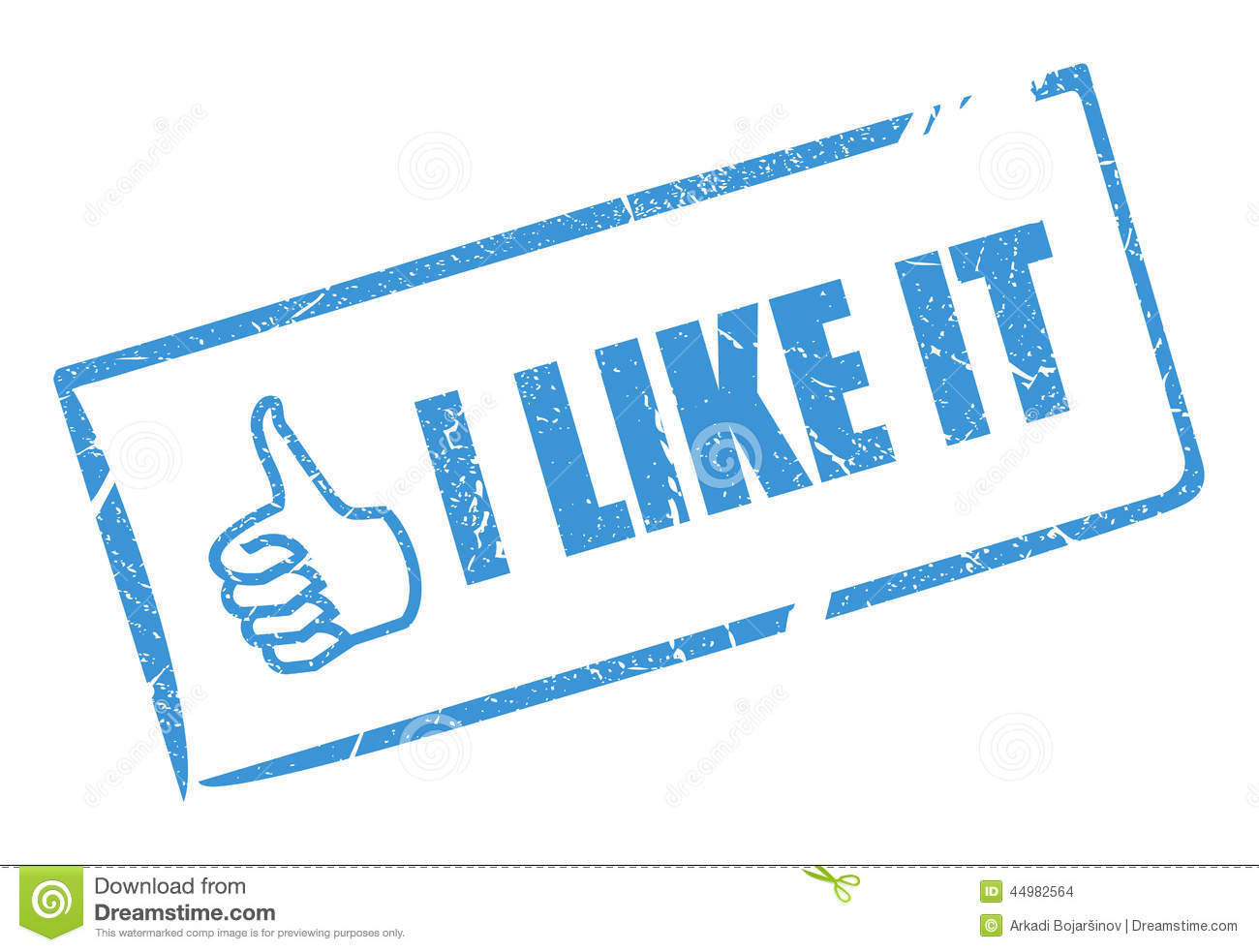 I Like It Stamp Stock Vector - Image: 44982564