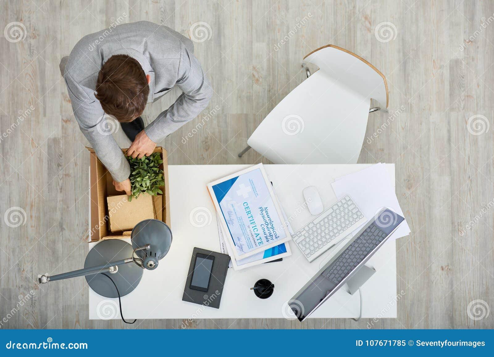 I lost my job stock image. Image of dismissal, businessman - 107671785