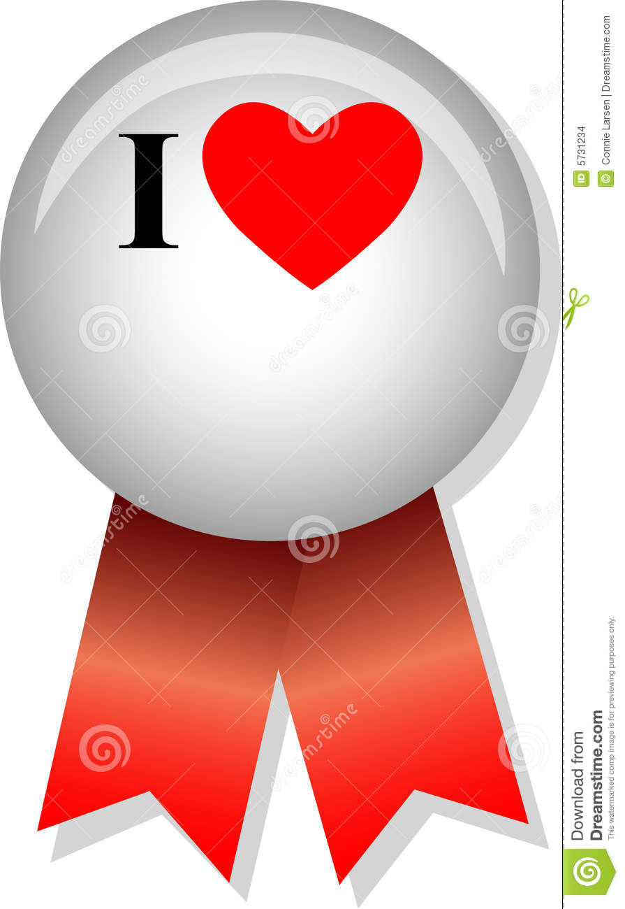 I Love Blank Button/eps Stock Vector. Image Of Love
