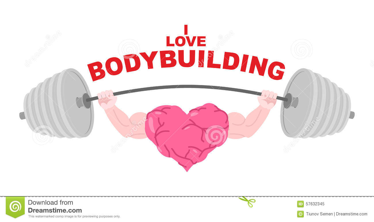 I Love Bodybuilding. A Symbol Of A Strong Heart With Big ...