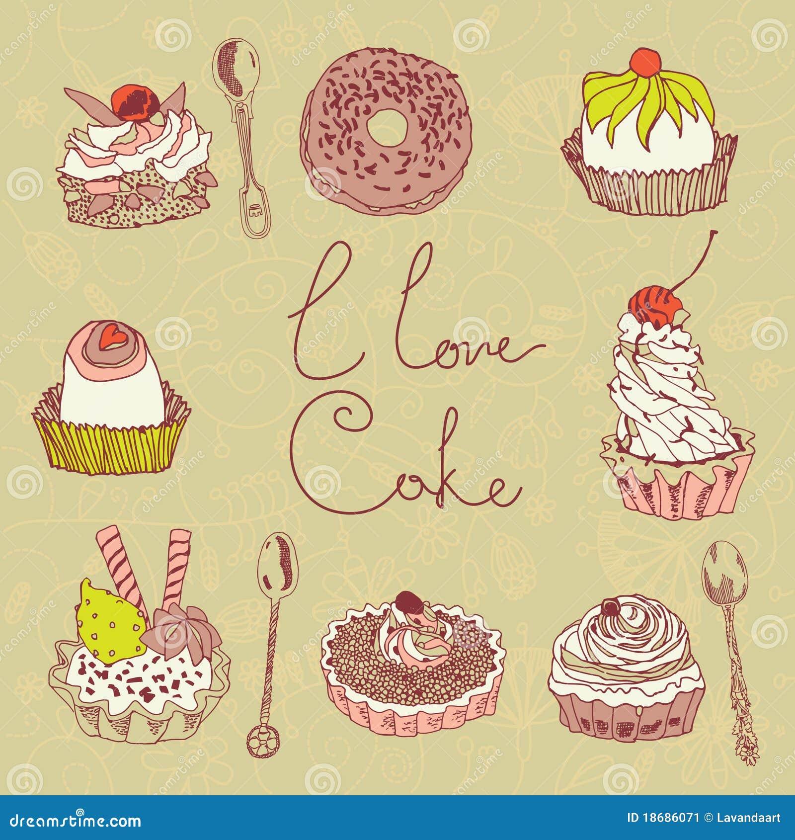 I Love Cake Design Puntate : I Love Cake Background Stock Image - Image: 18686071