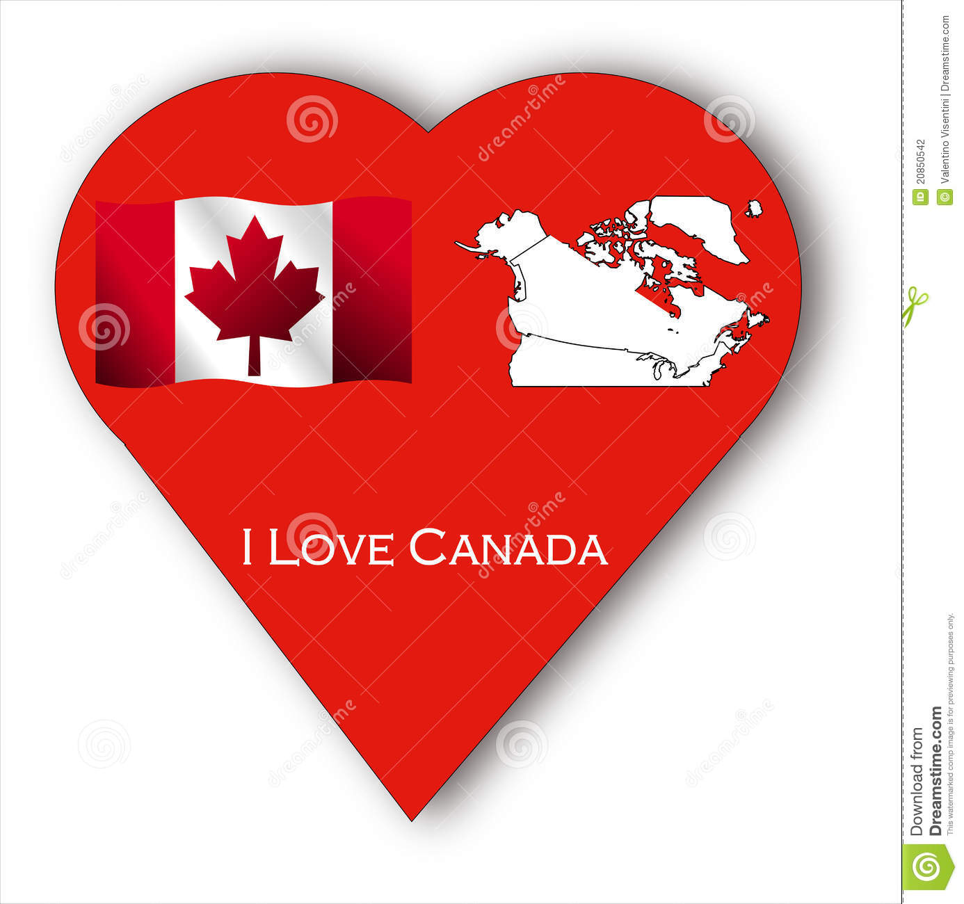Canadian patriotic illustration in red and white.