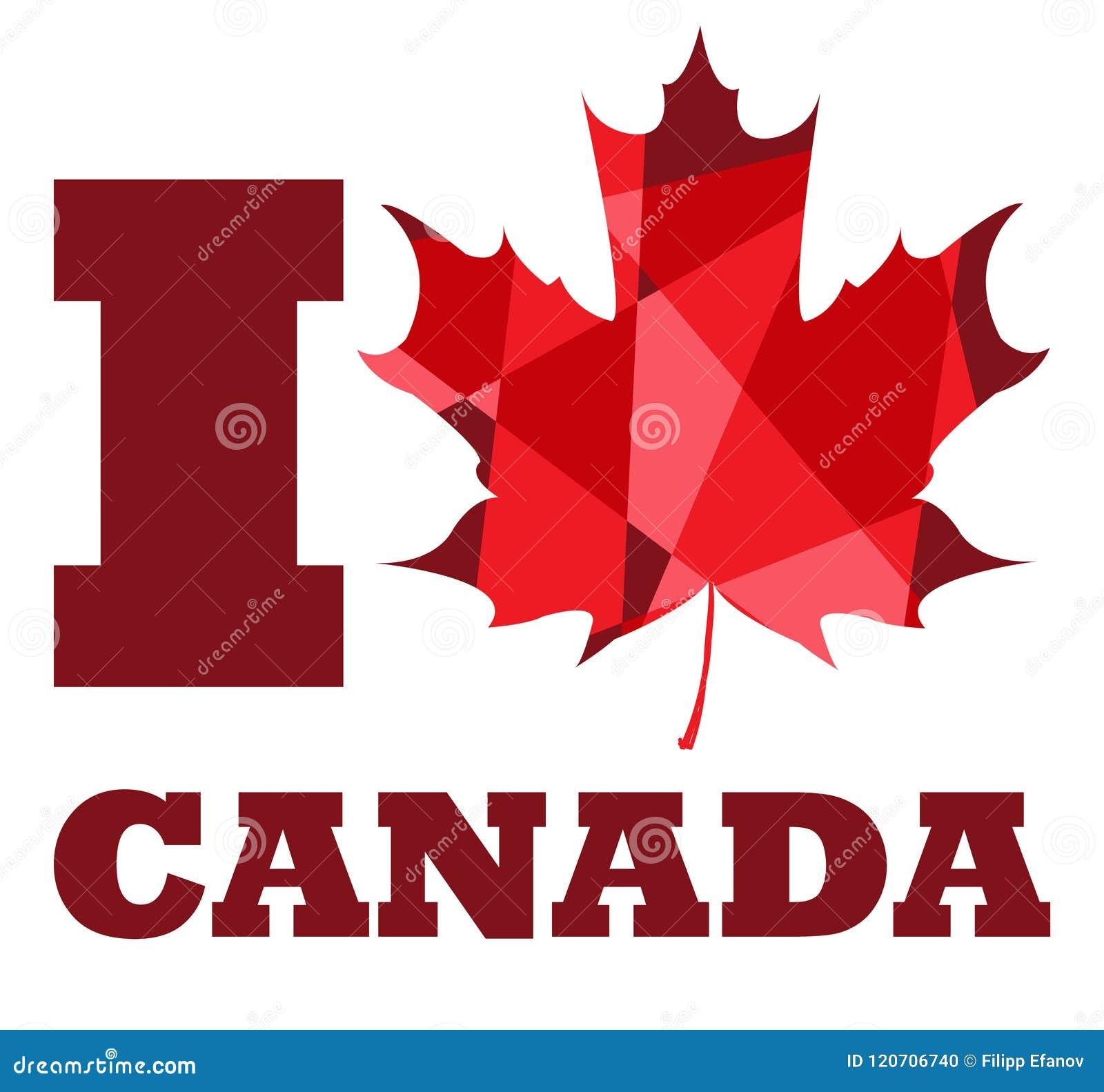I Love Canada Stock Vector Illustration Of Design Leaf 120706740