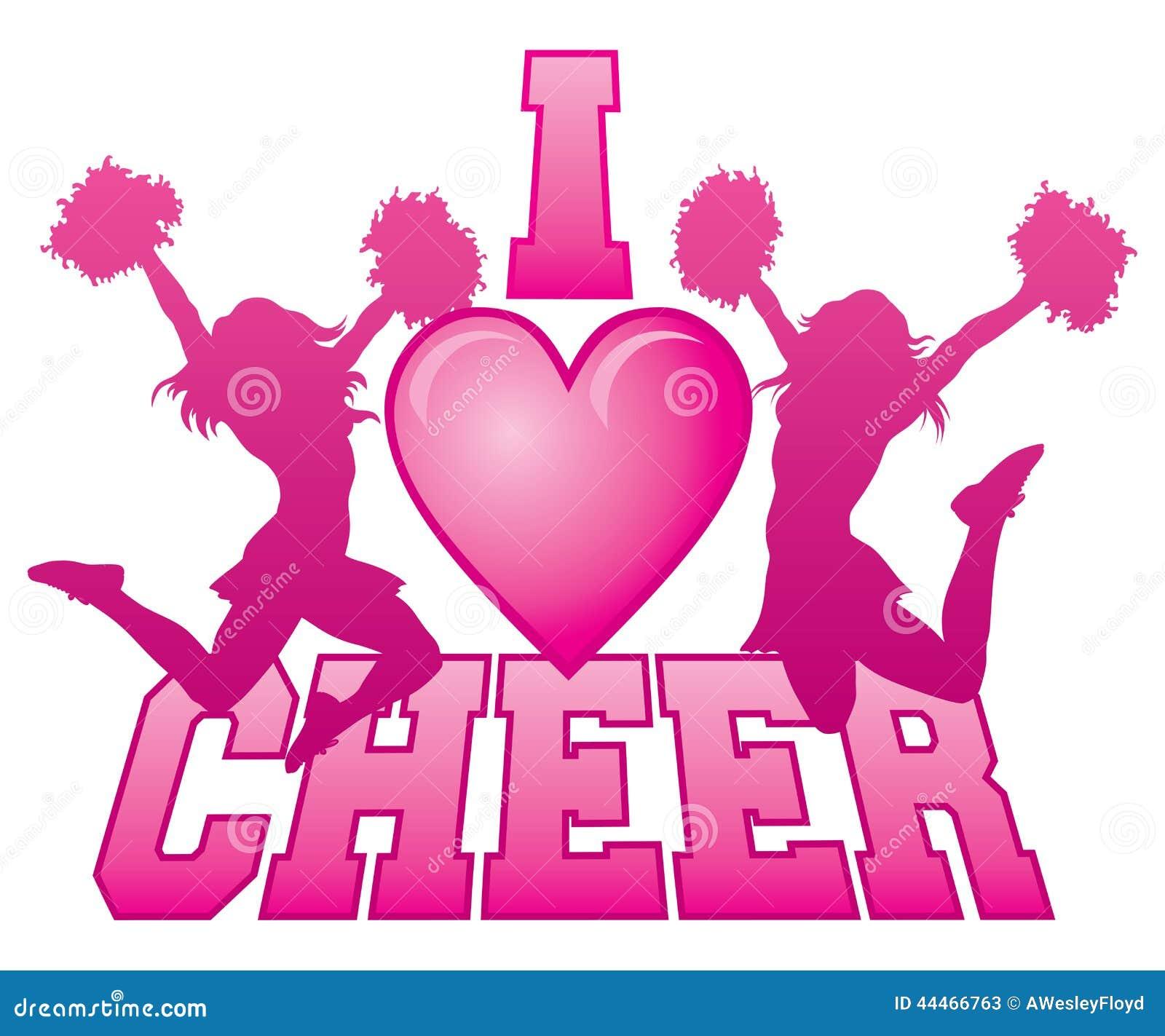 i love cheer stock vector image 44466763 clip art cheerleaders in black and yellow clipart cheerleader bow