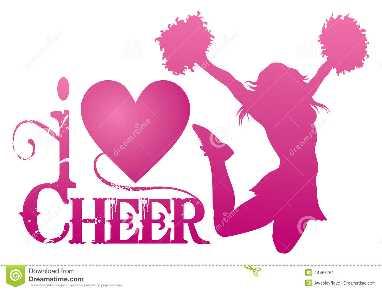 Illustration of a cheer design for cheerleaders. Express your love for ...
