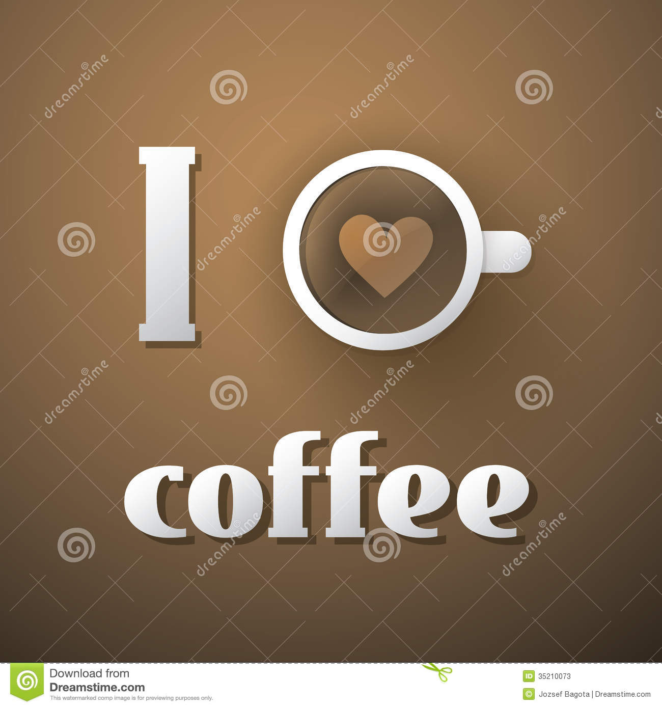 I Love Coffee Coffee Cup Illustration Stock Photos