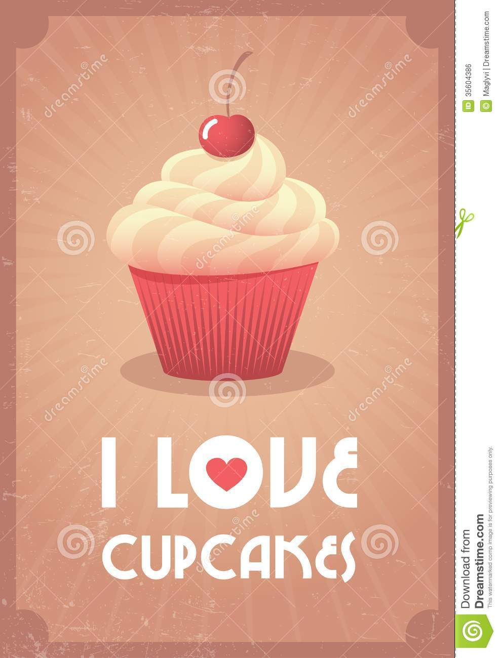 I Love Cupcakes Royalty Free Stock Image - Image: 35604386
