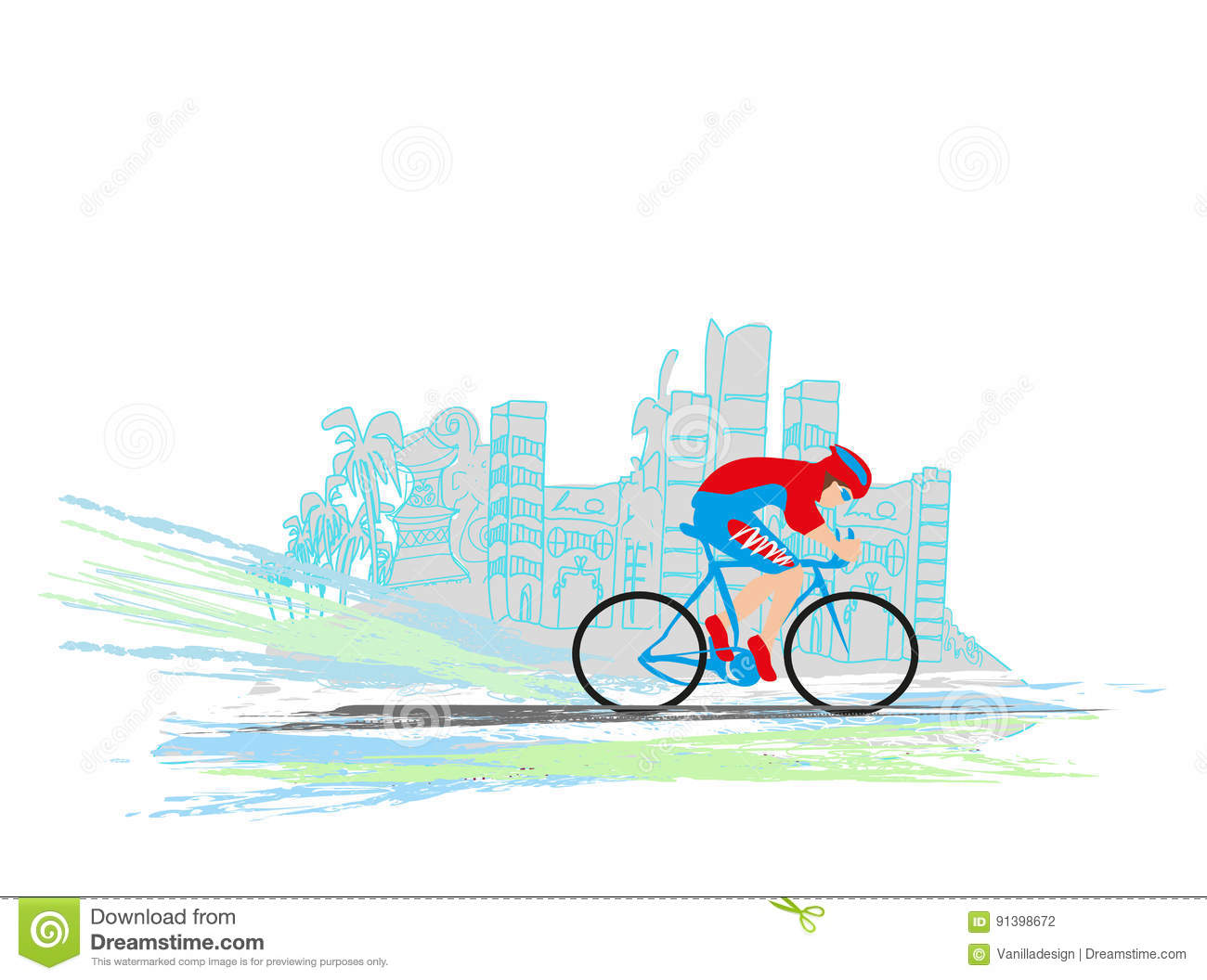 I Love Cycling Banner Stock Vector Illustration Of Recreational