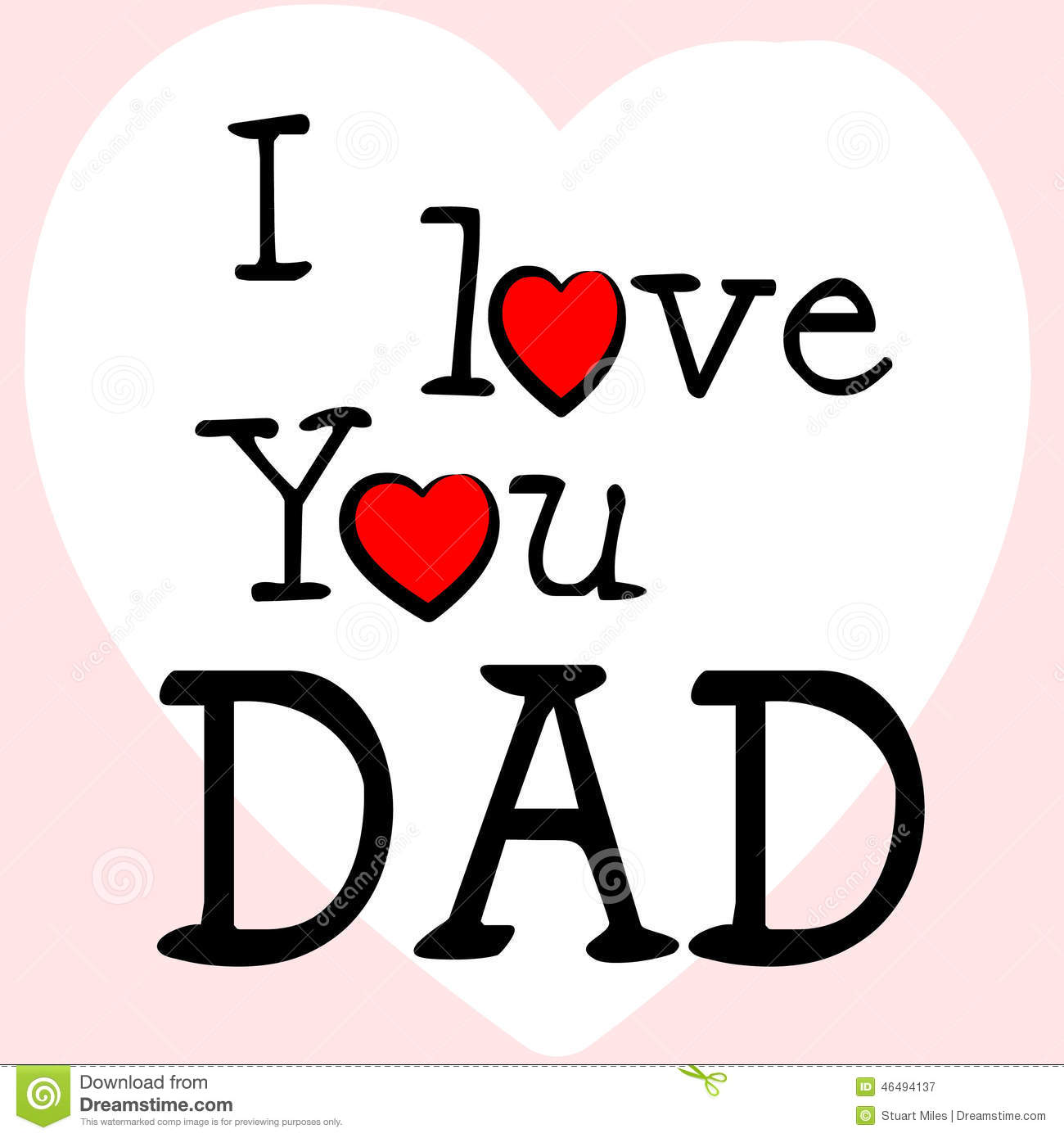 I love dad represents happy fathers day and affection stock i love dad represents happy fathers day and affection biocorpaavc Images