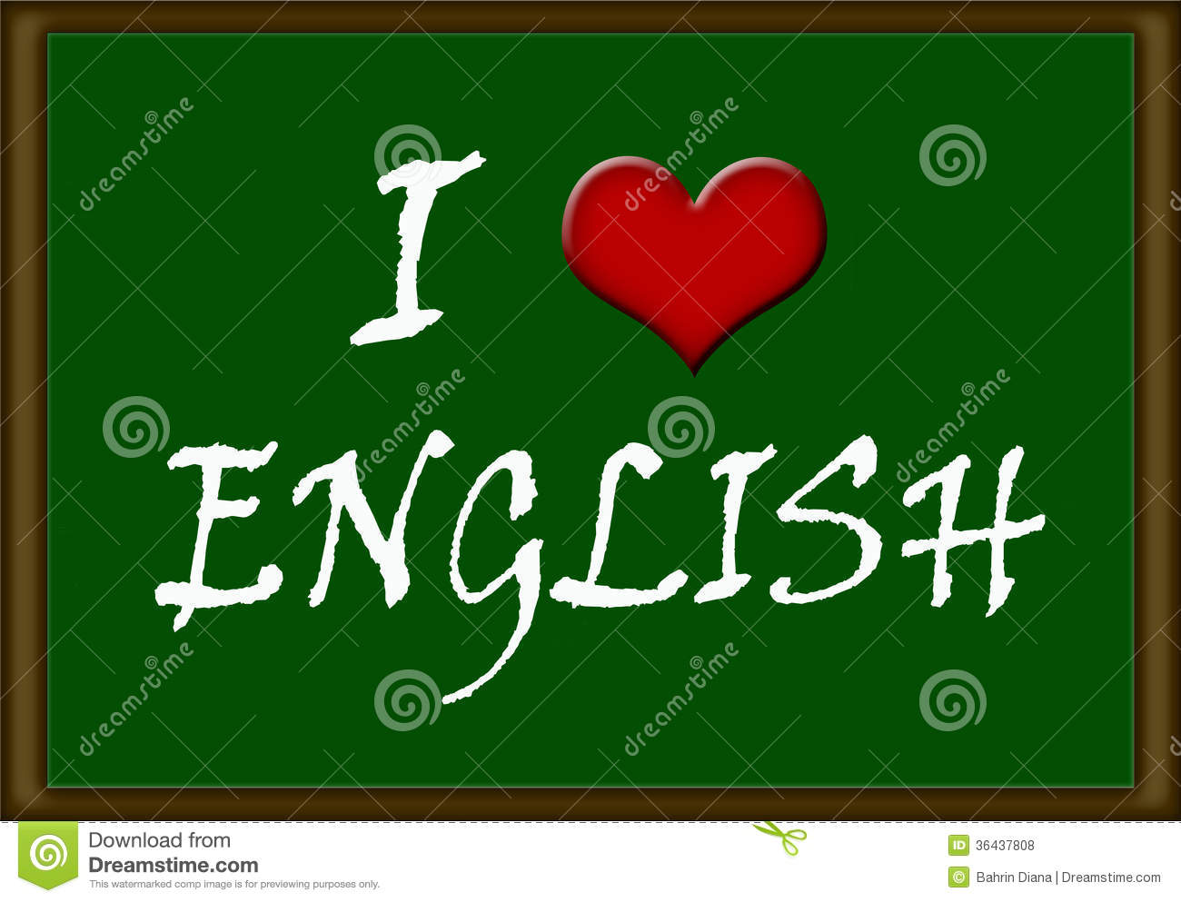 Love English Royalty Free Stock Photos - Image: 36437808