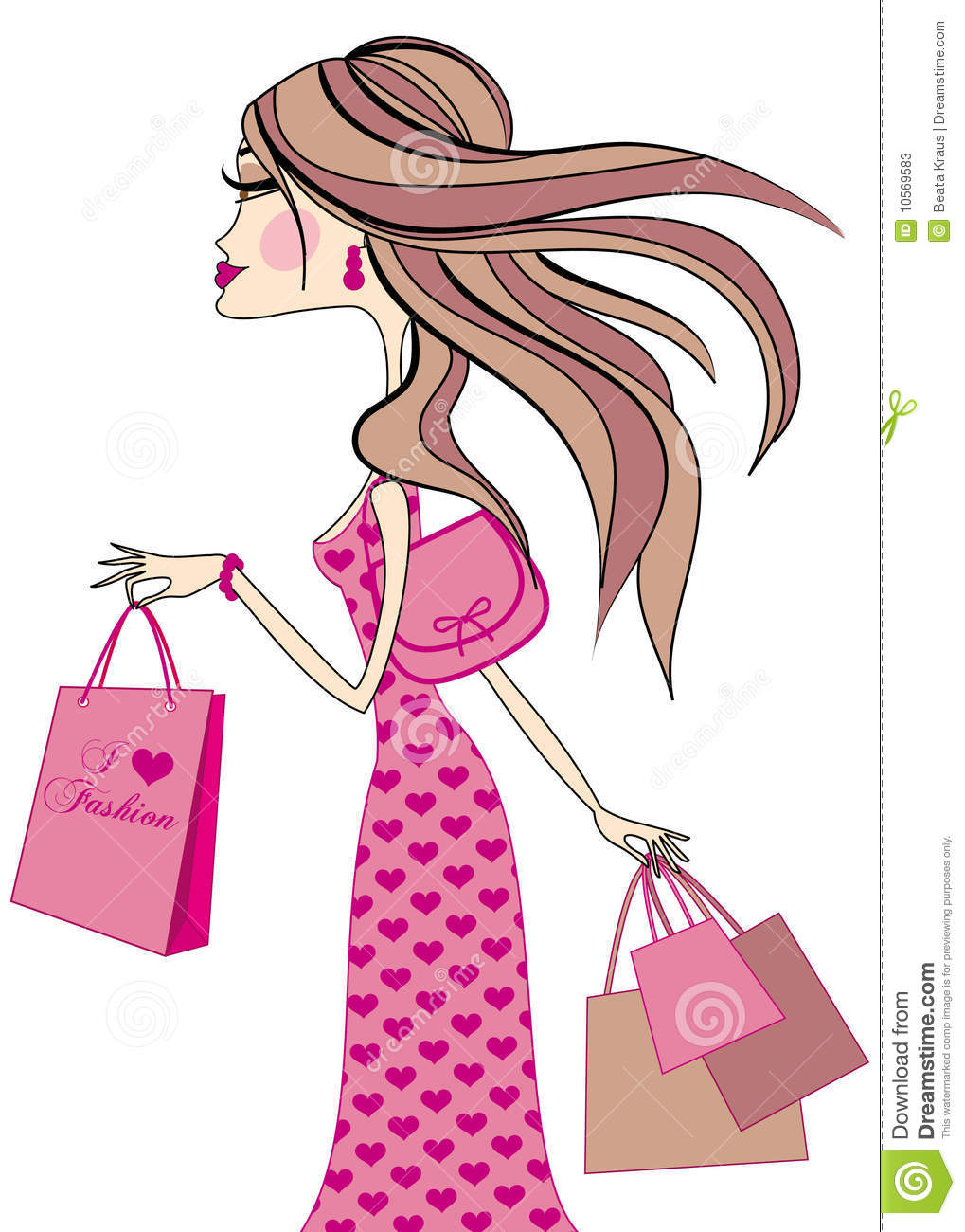 I Love Fashion Stock Vector. Illustration Of Finger, Hair