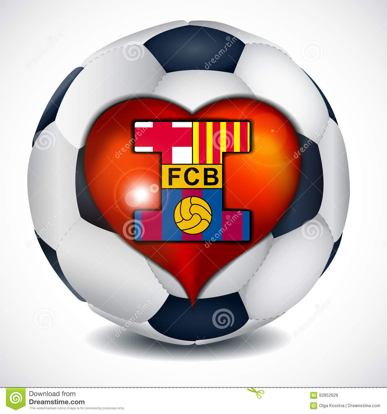 I Love Football Club Barcelona. Editorial Stock Photo ...