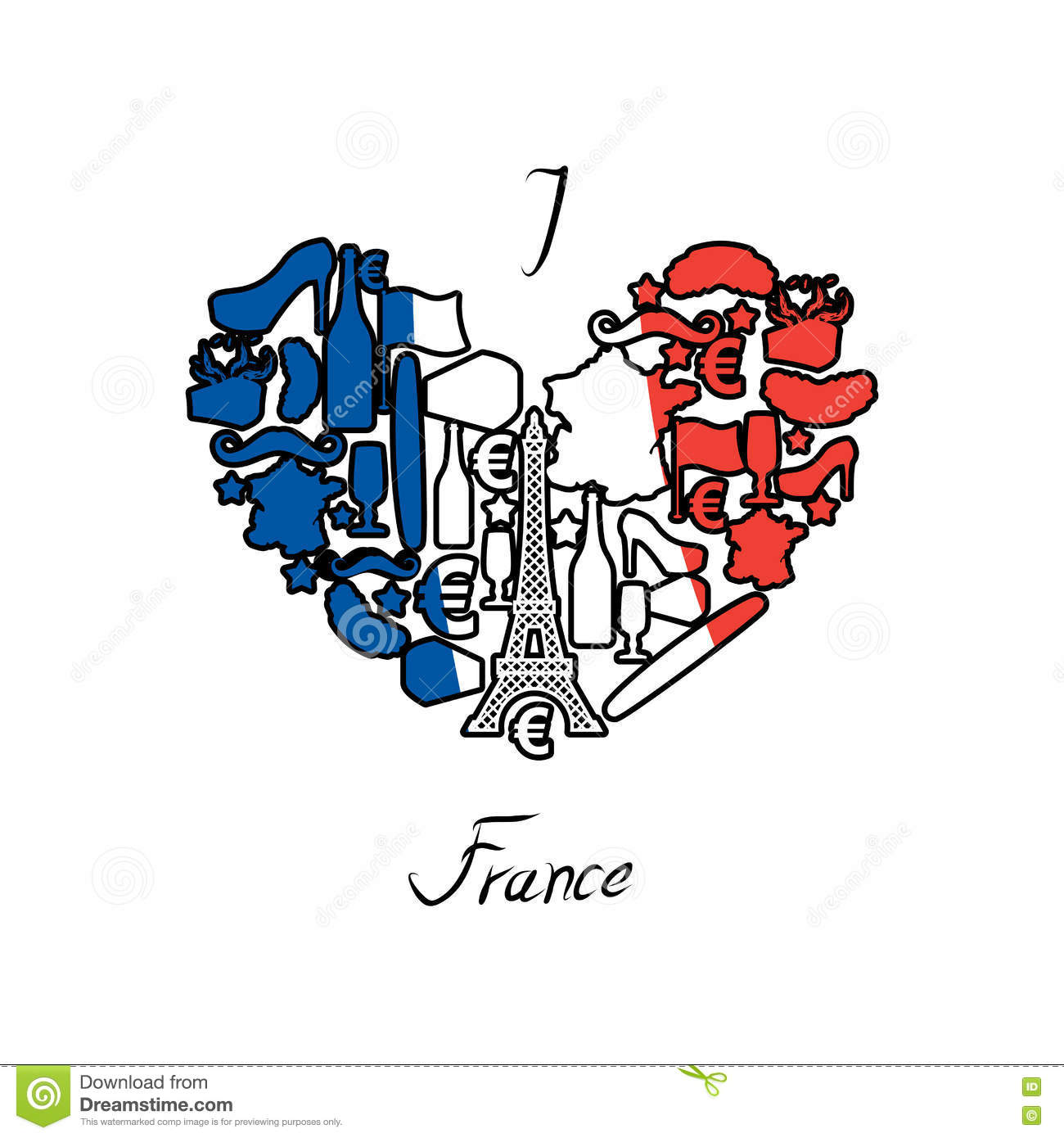 how to spell i love in french