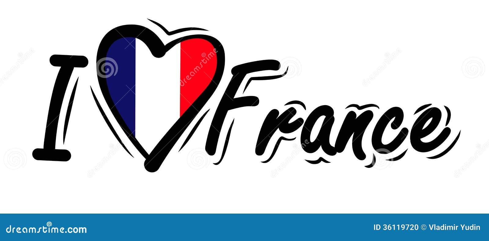 I Love France Vector Stock Photo Image 36119720