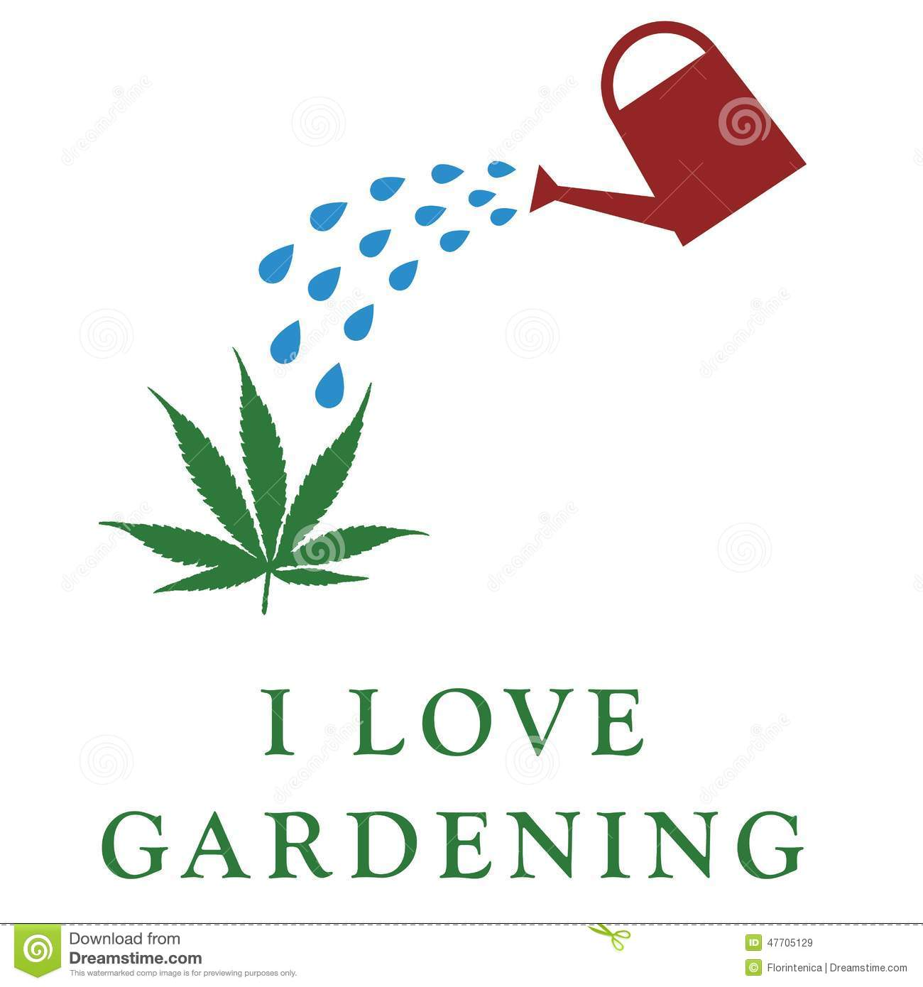 I love gardening stock illustration illustration of for Gardening is my passion