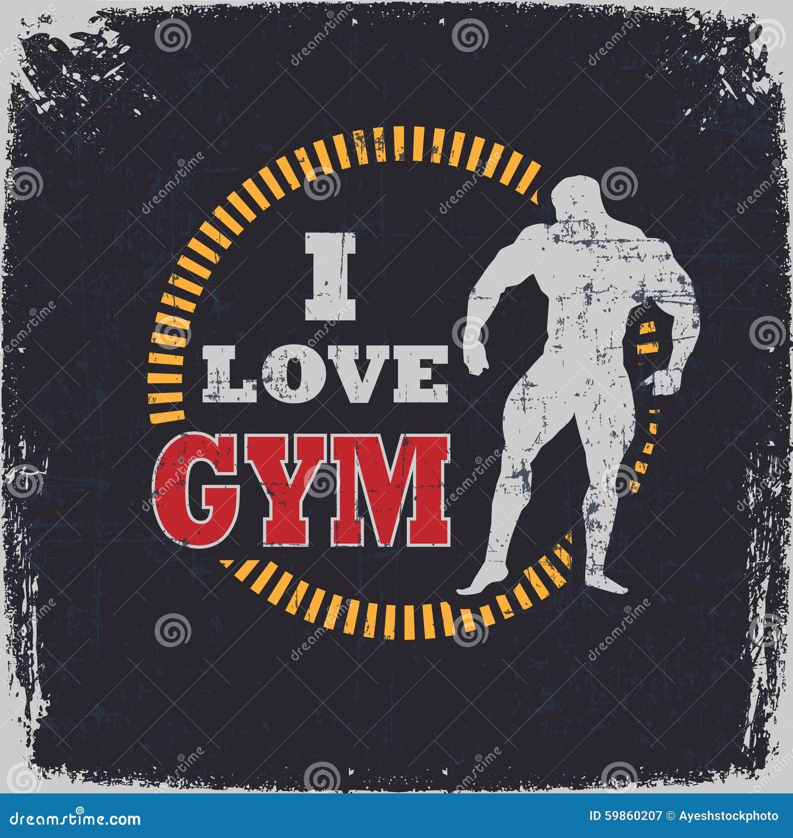 I Love Gym Stock Illustration Image 59860207